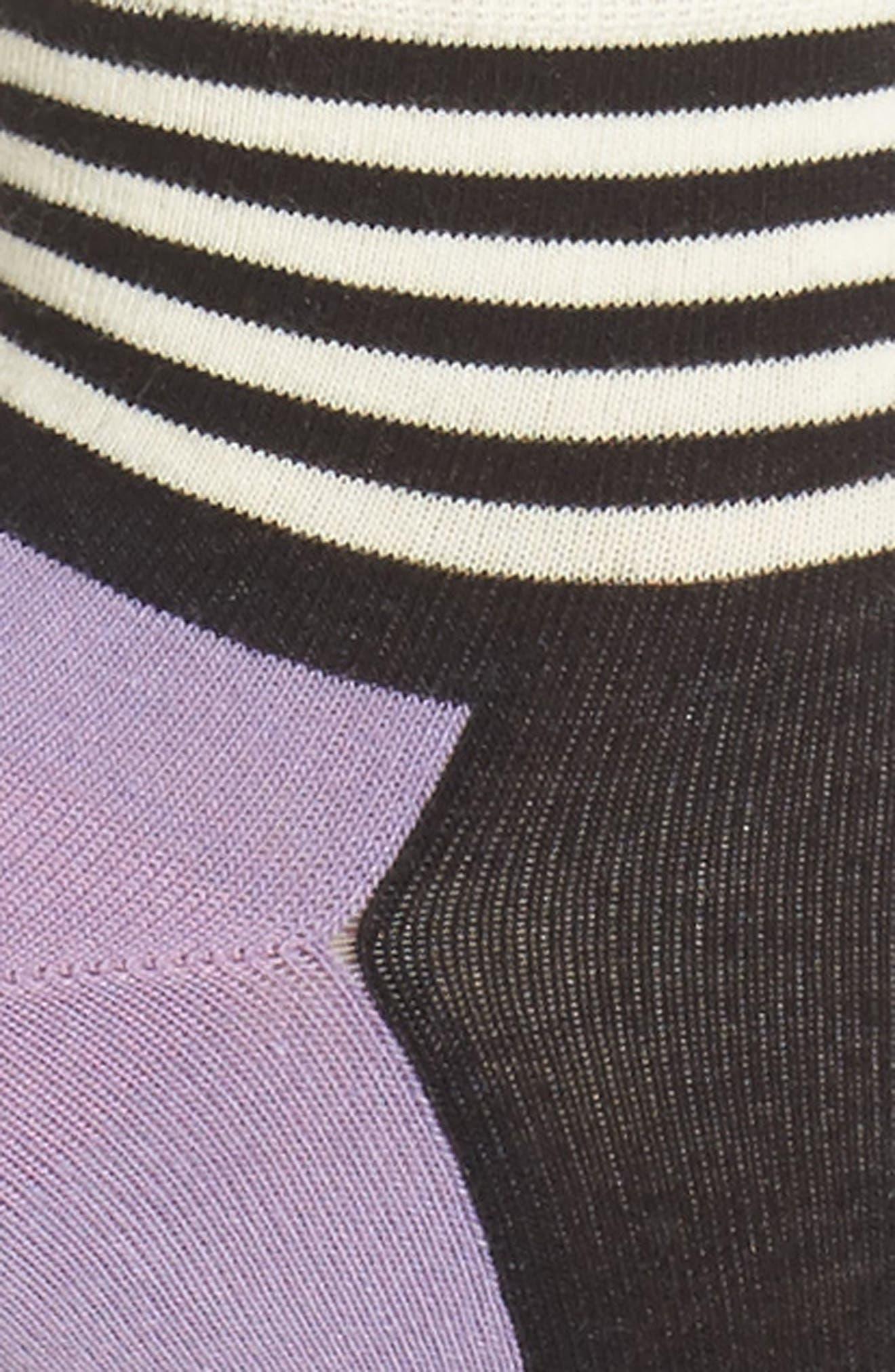 Stripe Colorblock Anklet Socks,                             Alternate thumbnail 2, color,                             515