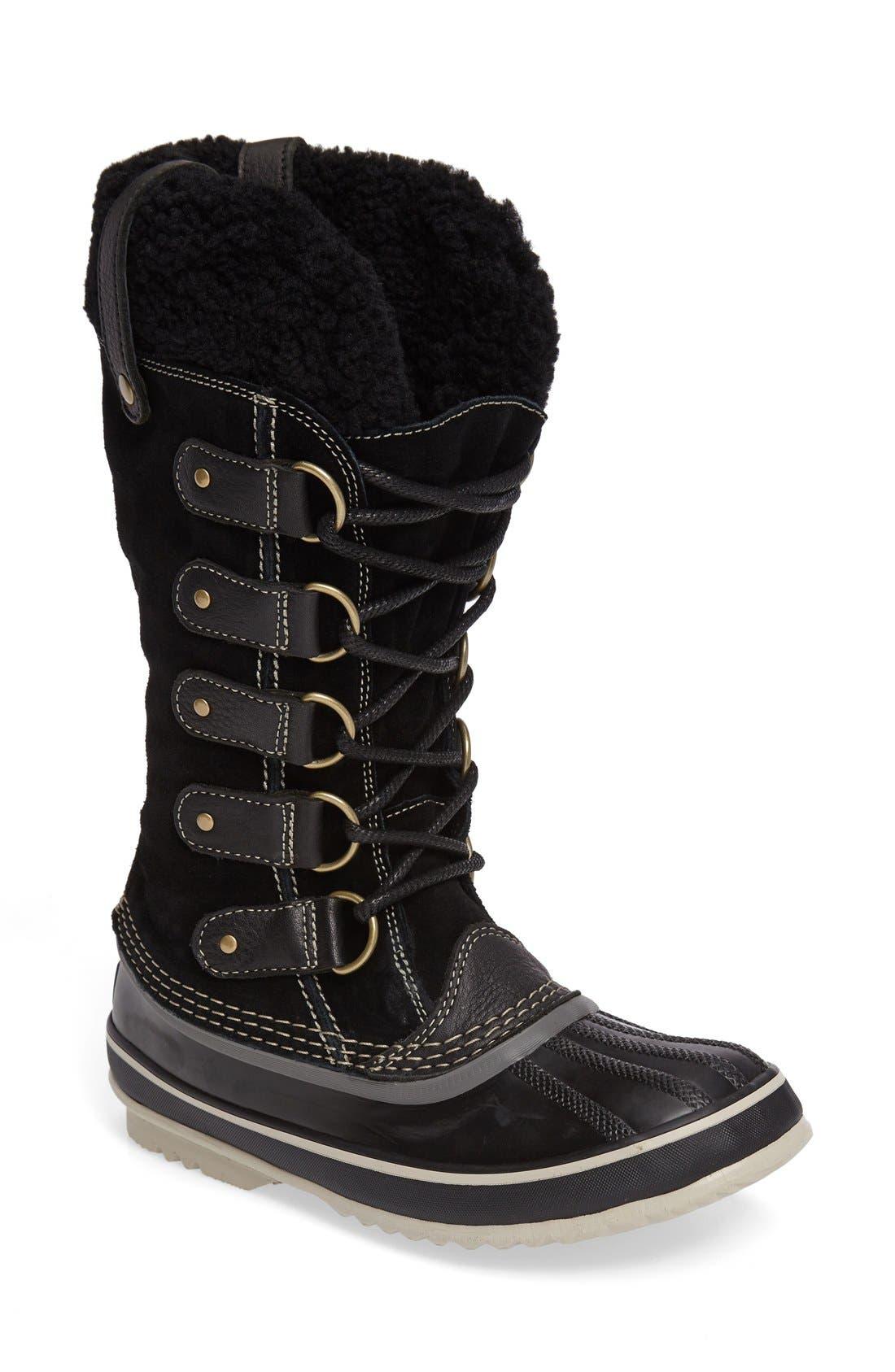 Joan of Arctic Genuine Shearling Waterproof Boot,                         Main,                         color,