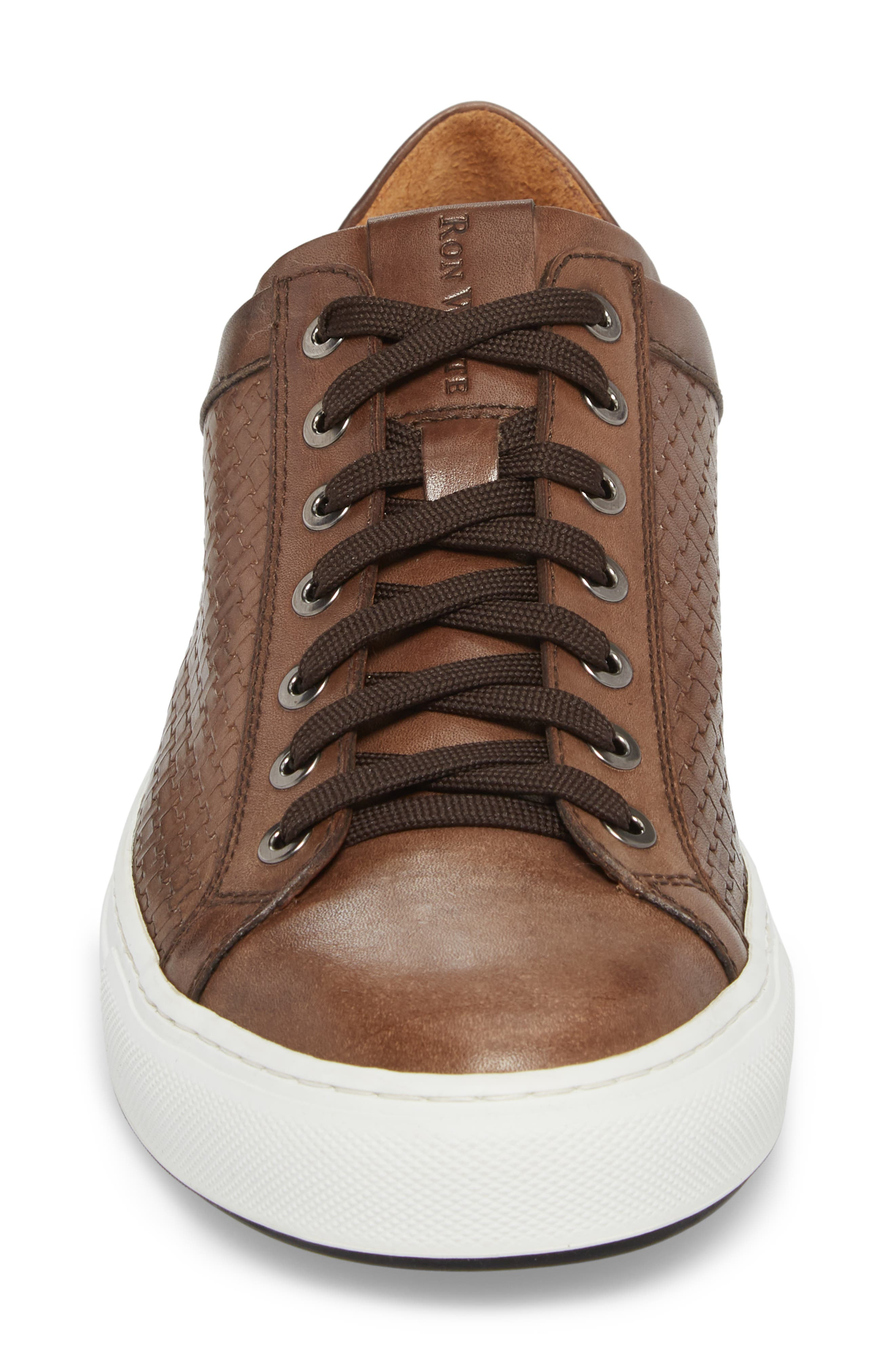 Diego Sneaker,                             Alternate thumbnail 4, color,                             WALNUT