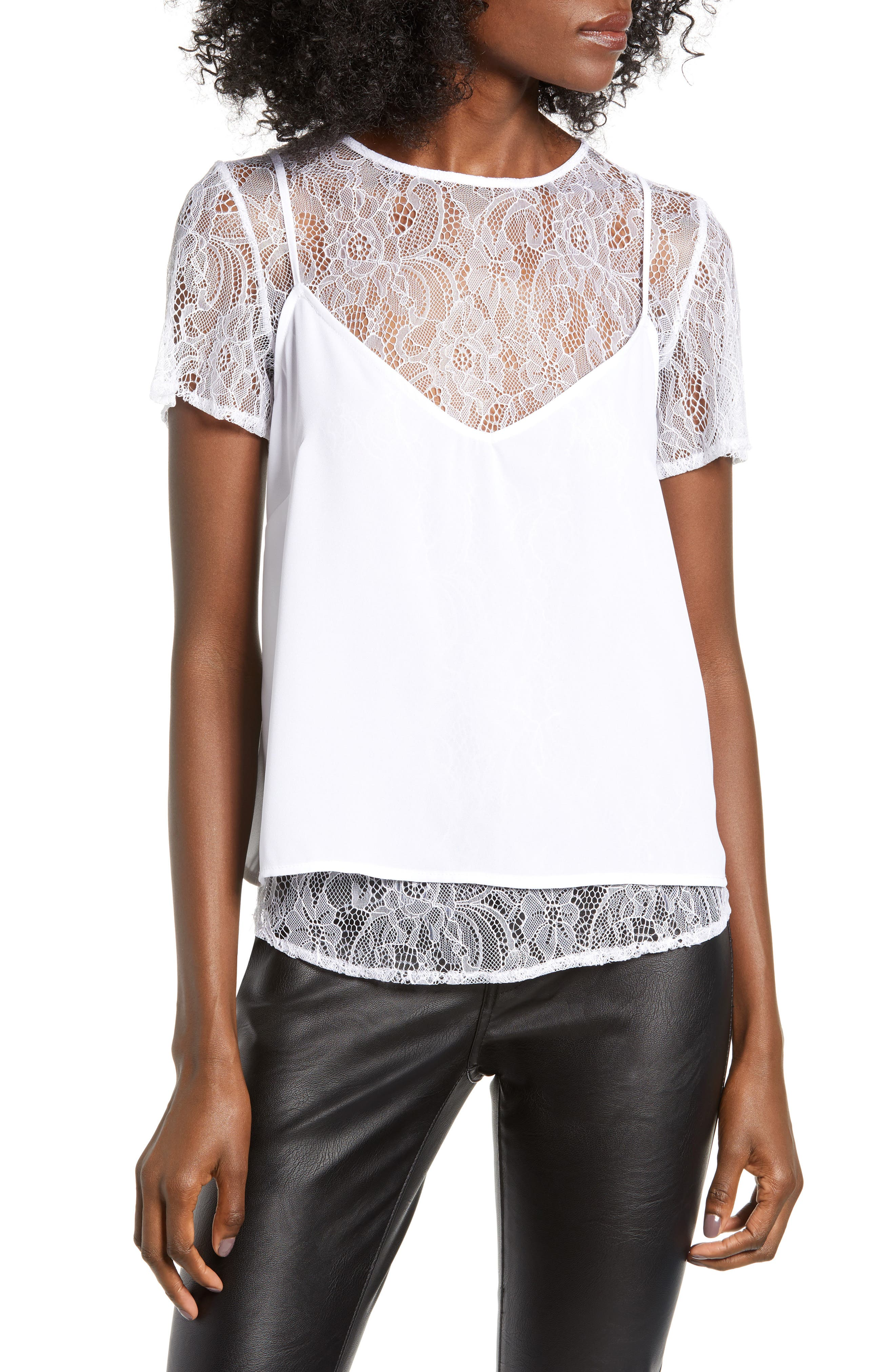 Love, Fire Two-Fer Camisole, White