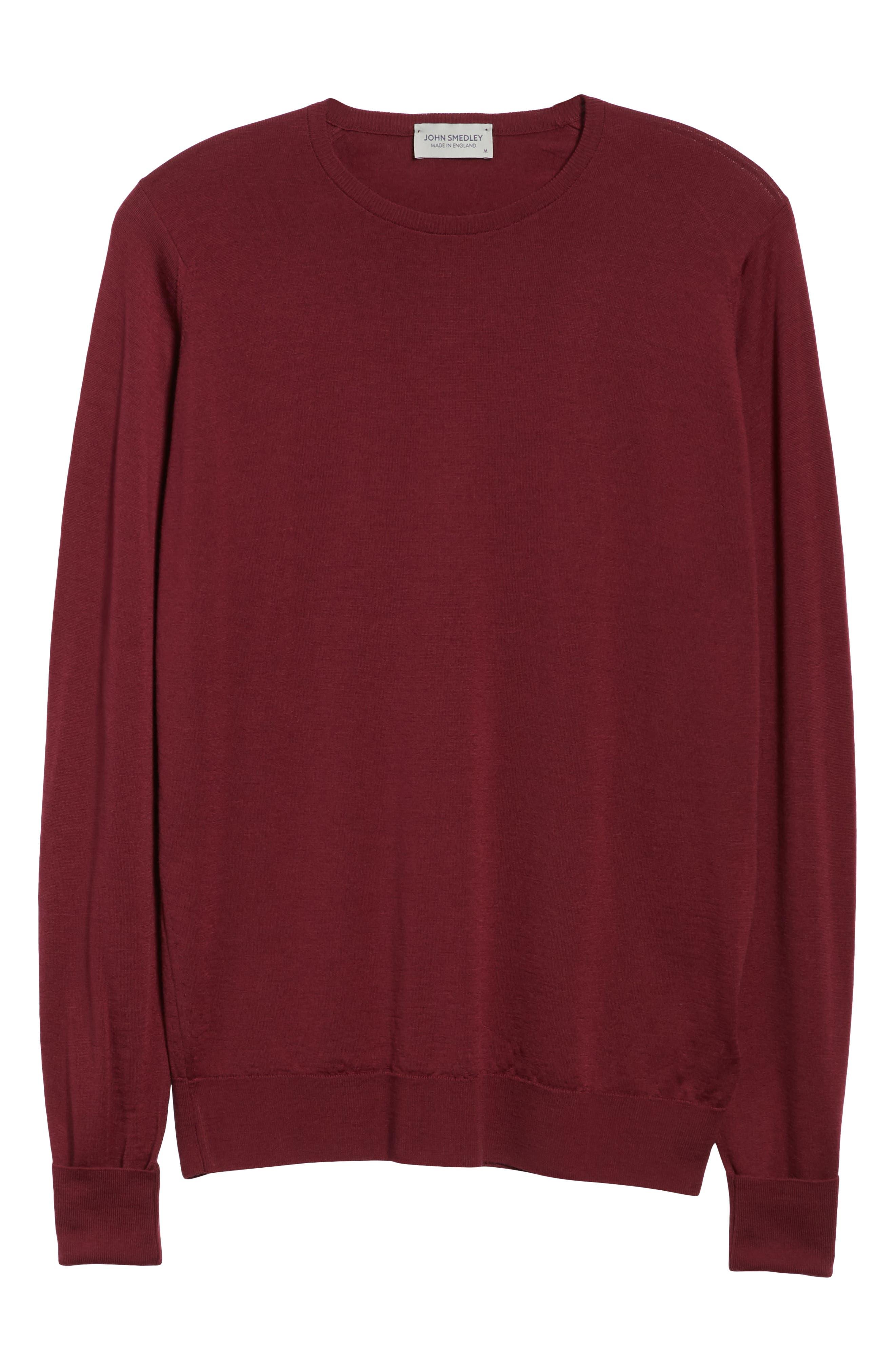 'Marcus' Easy Fit Crewneck Wool Sweater,                             Alternate thumbnail 6, color,                             BOREDAUX