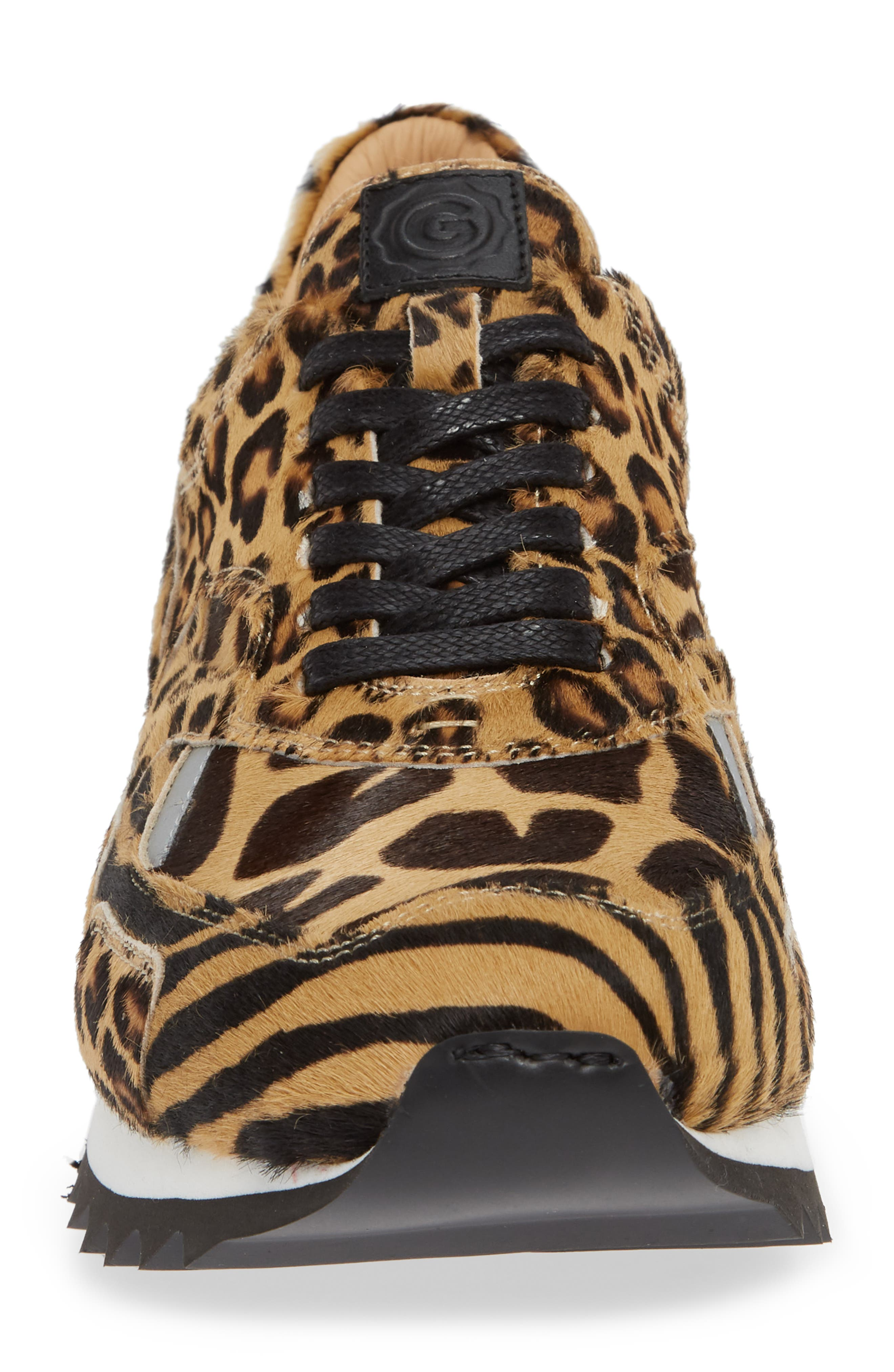 Nick Wooster x GREATS Pronto Genuine Calf Hair Sneaker,                             Alternate thumbnail 4, color,                             209