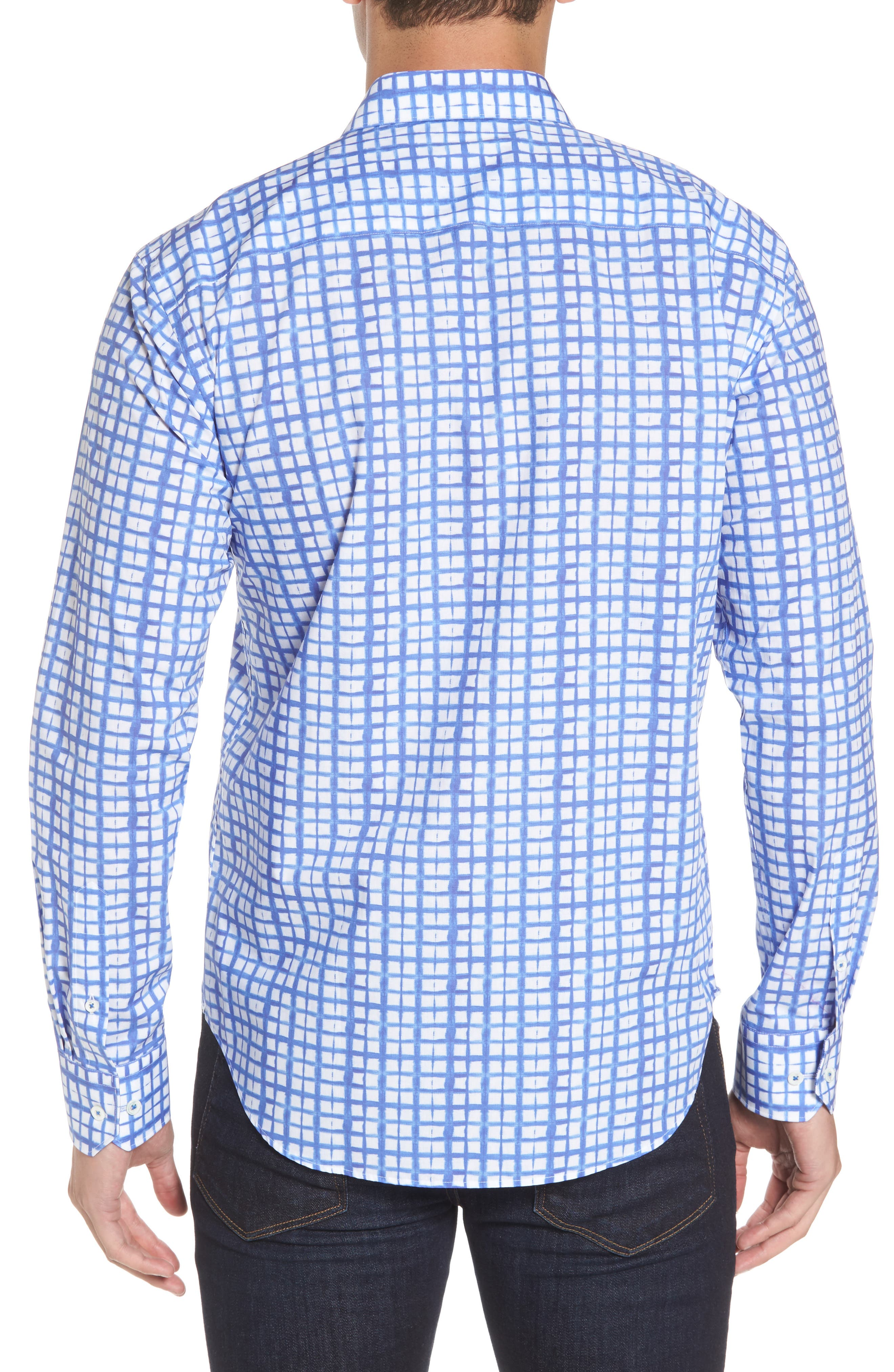 Shaped Fit Check Sport Shirt,                             Alternate thumbnail 2, color,                             422