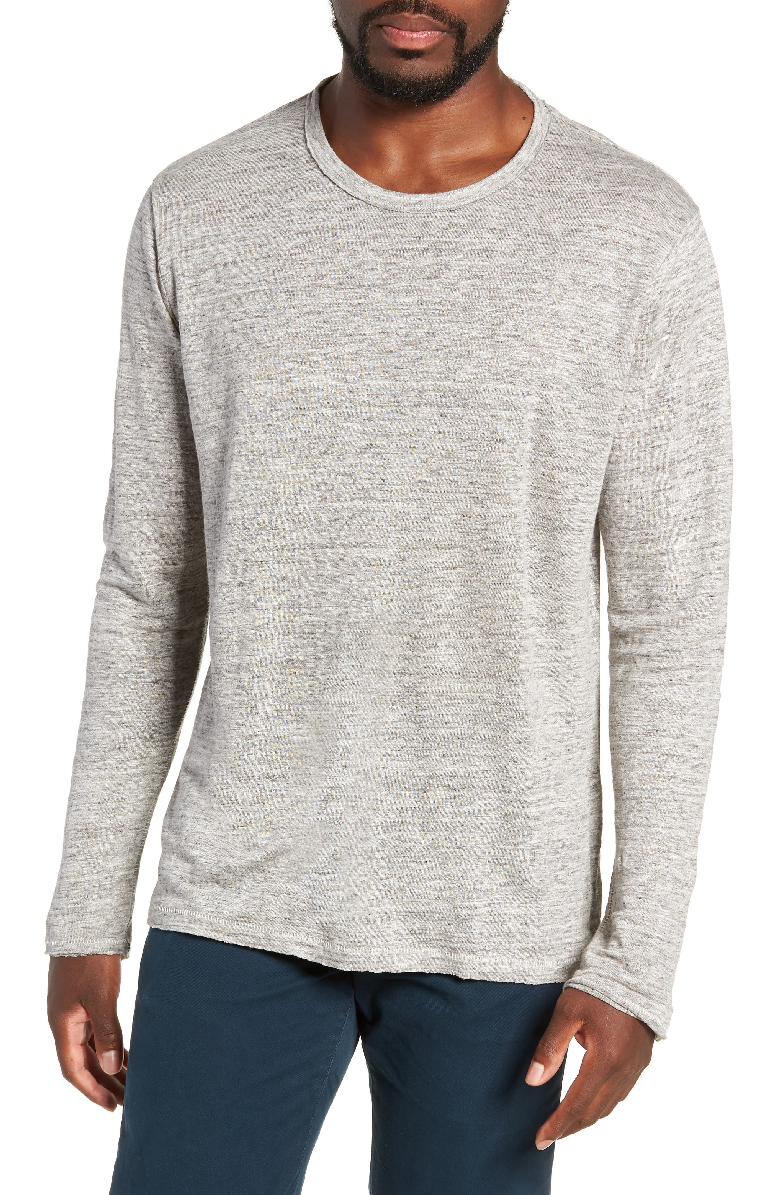 Owen Linen Long Sleeve T-Shirt,                         Main,                         color, 020