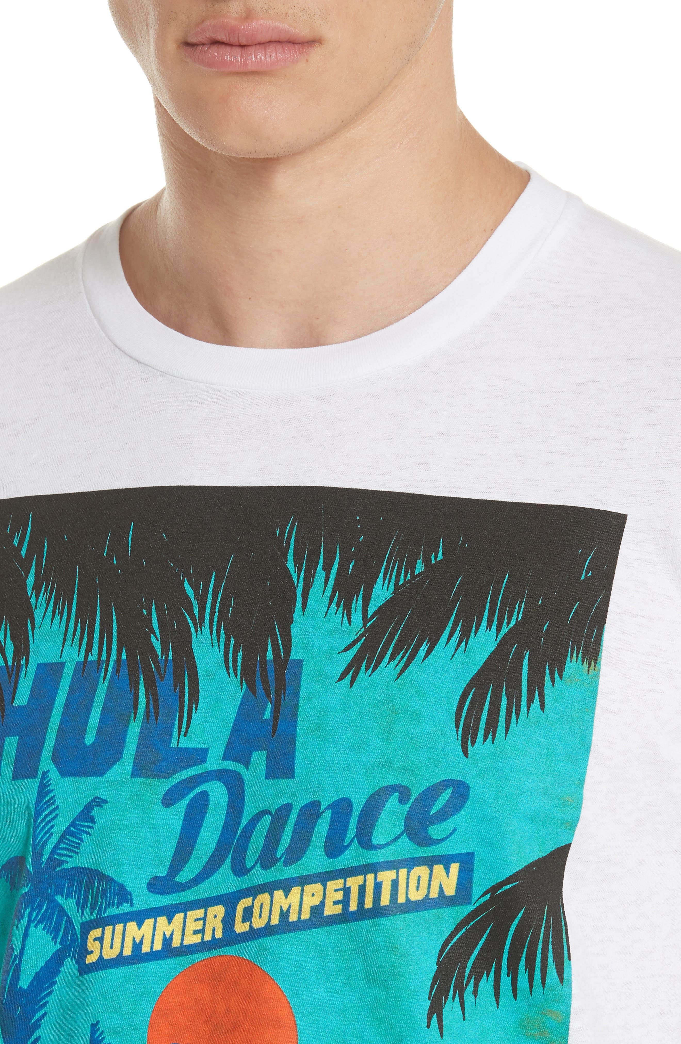 Hula Graphic T-Shirt,                             Alternate thumbnail 4, color,                             100