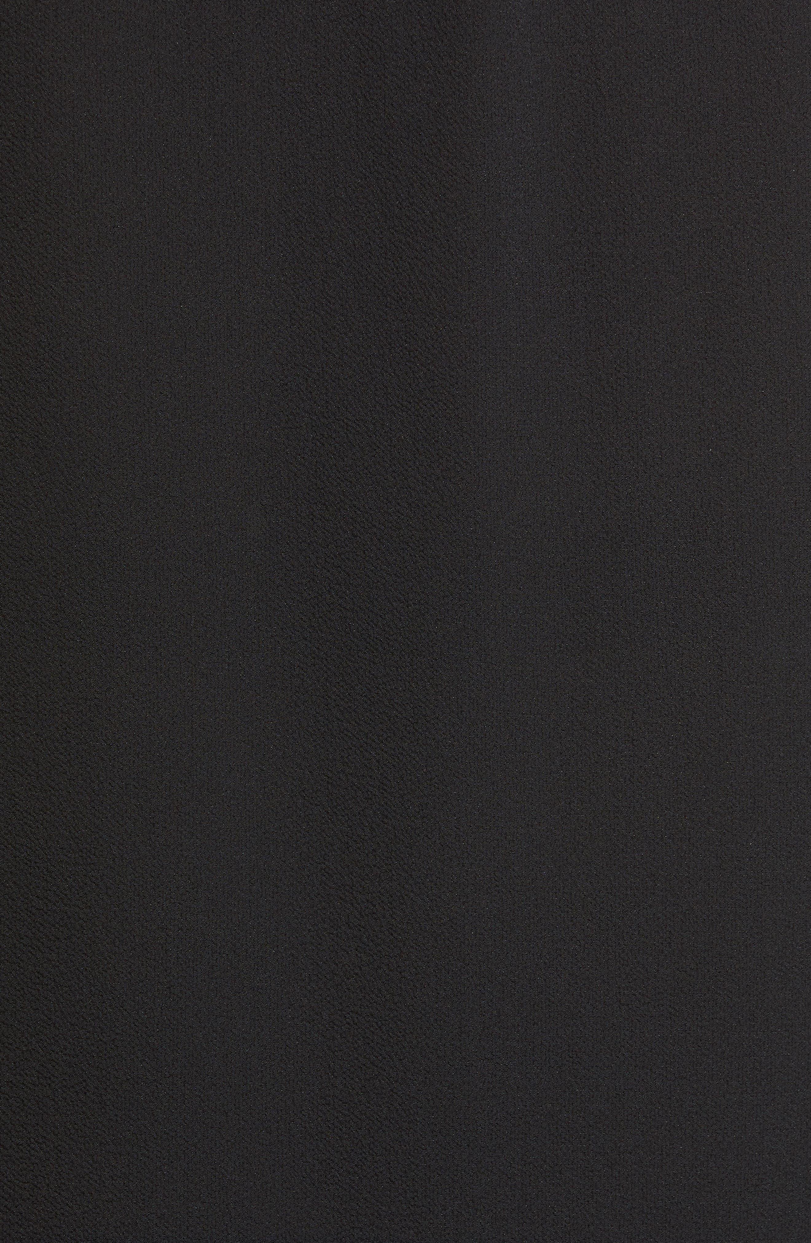 Patterned Drape Front Blouse,                             Alternate thumbnail 5, color,                             BLACK
