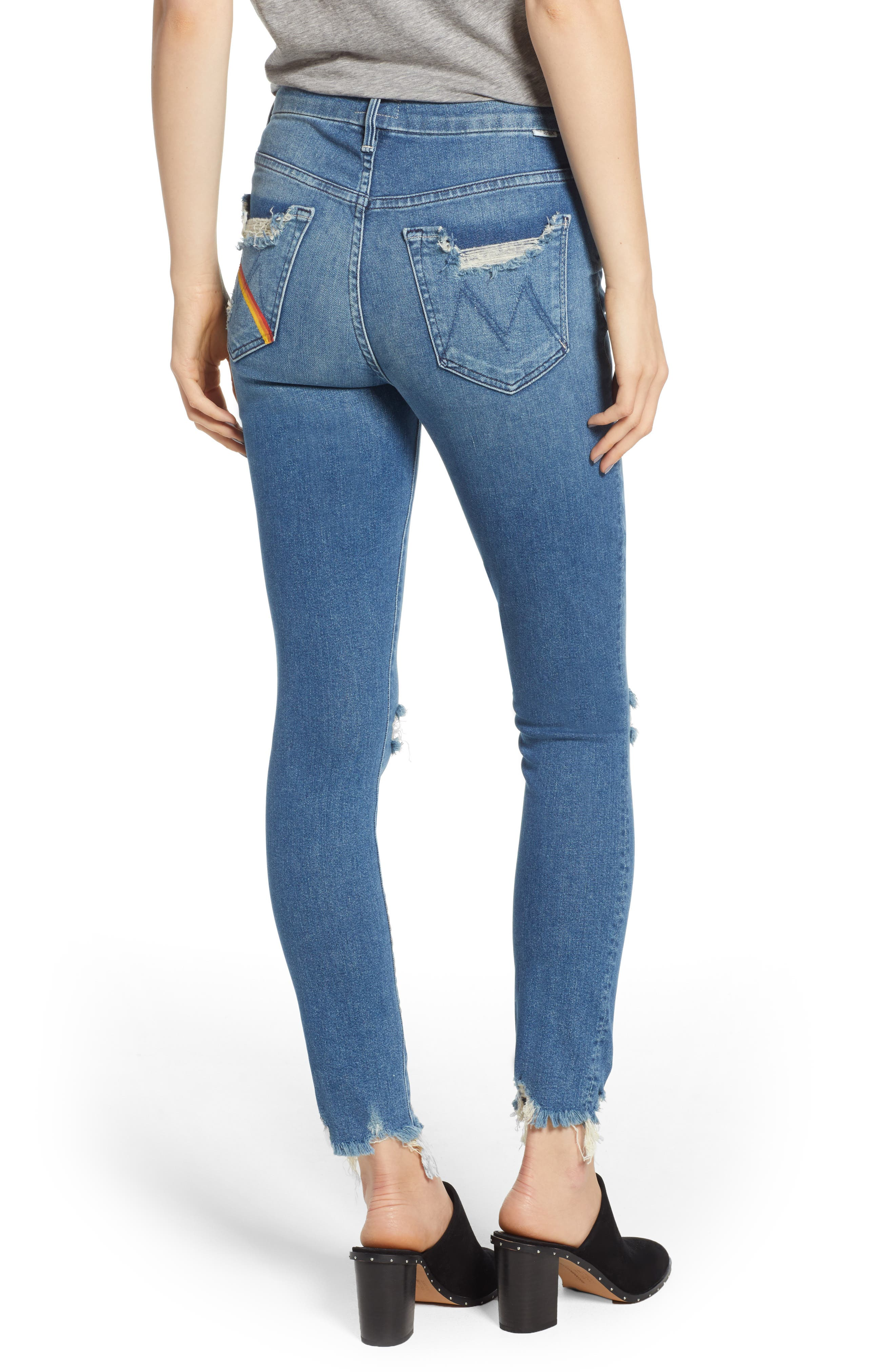 The Looker High Waist Fray Ankle Skinny Jeans,                             Alternate thumbnail 2, color,                             426