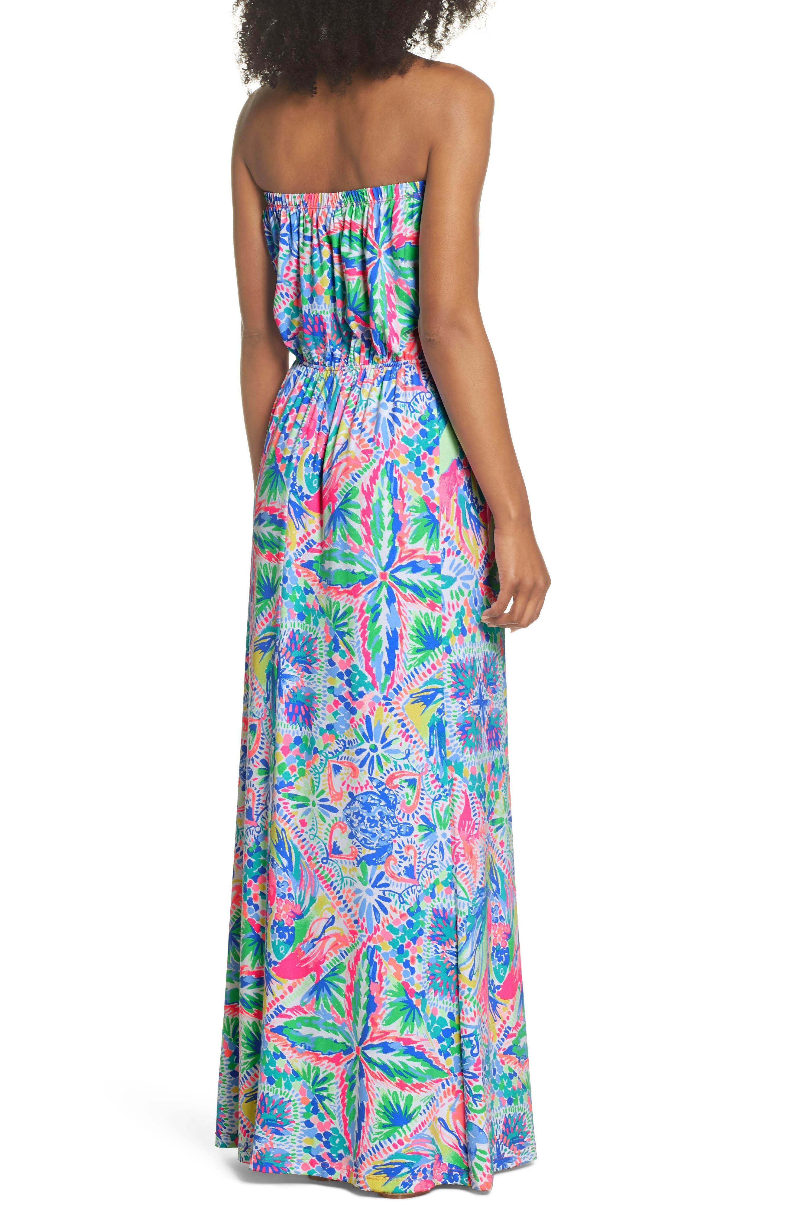 Marlisa Maxi Dress,                             Alternate thumbnail 2, color,                             MULTI DANCING ON THE DECK