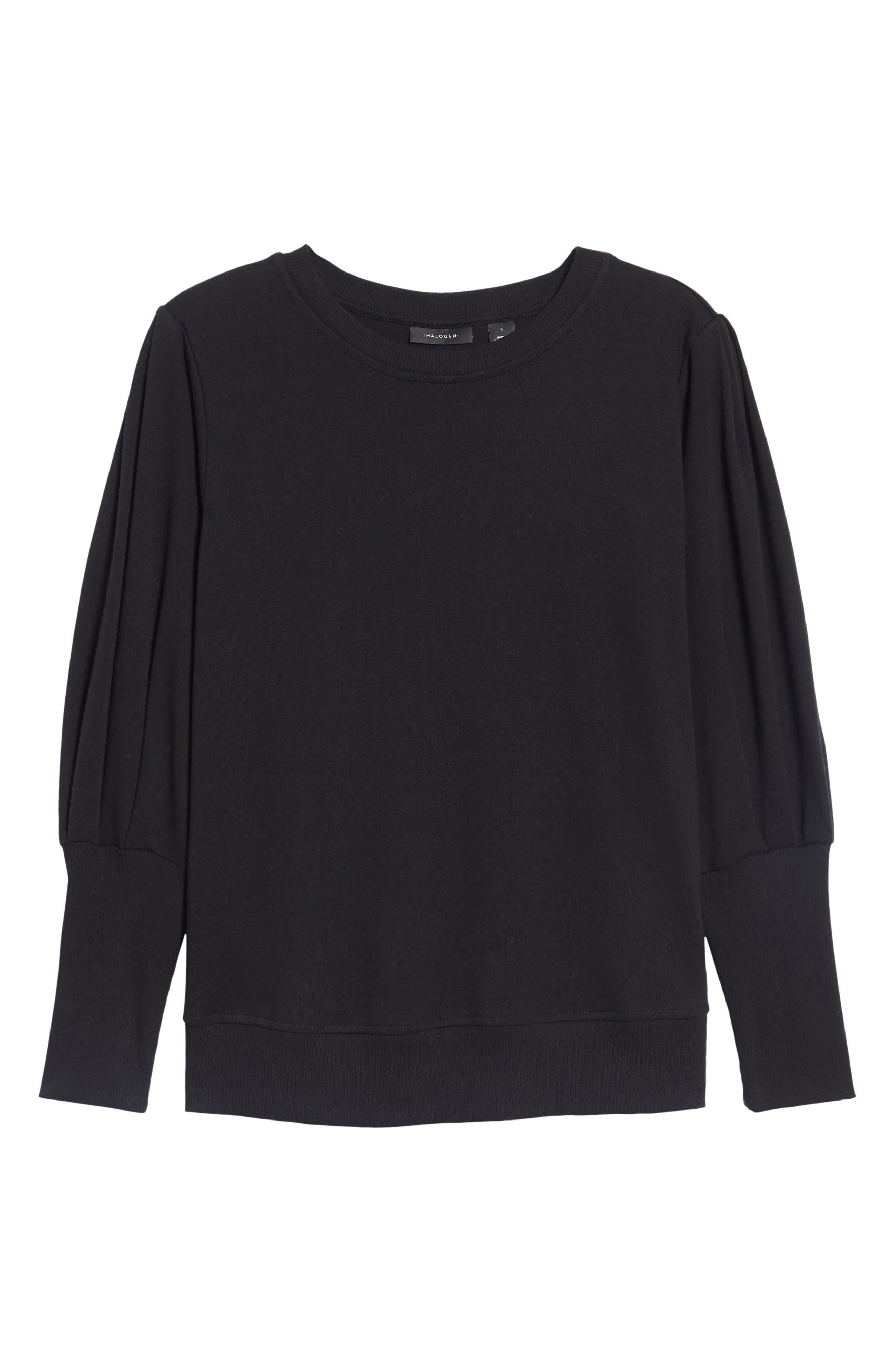 Blouson Sleeve Sweatshirt,                             Alternate thumbnail 6, color,                             001