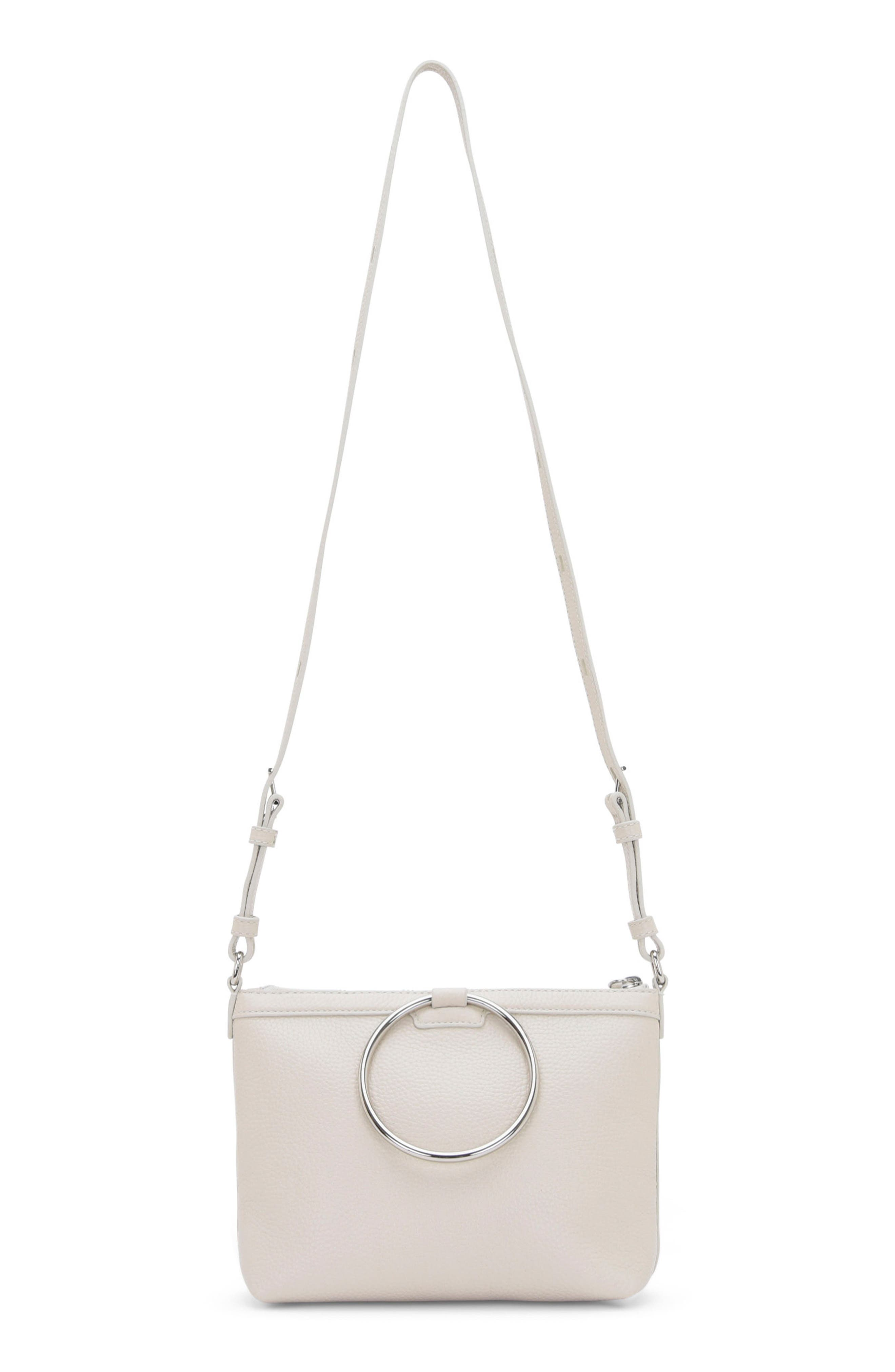 Pebbled Leather Ring Crossbody Bag,                         Main,                         color, 020
