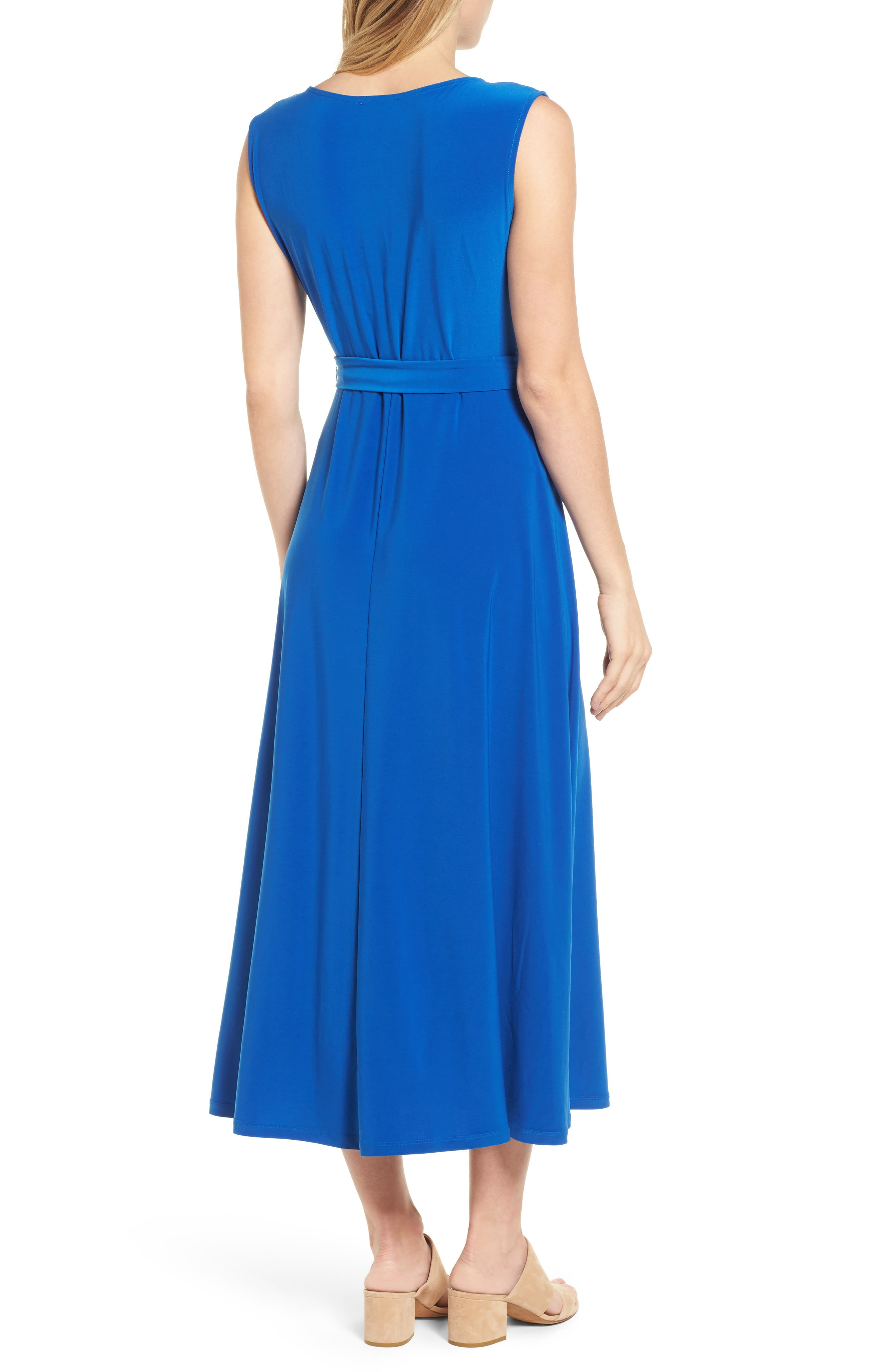 Cap Sleeve Tie Waist Maxi Dress,                             Alternate thumbnail 4, color,