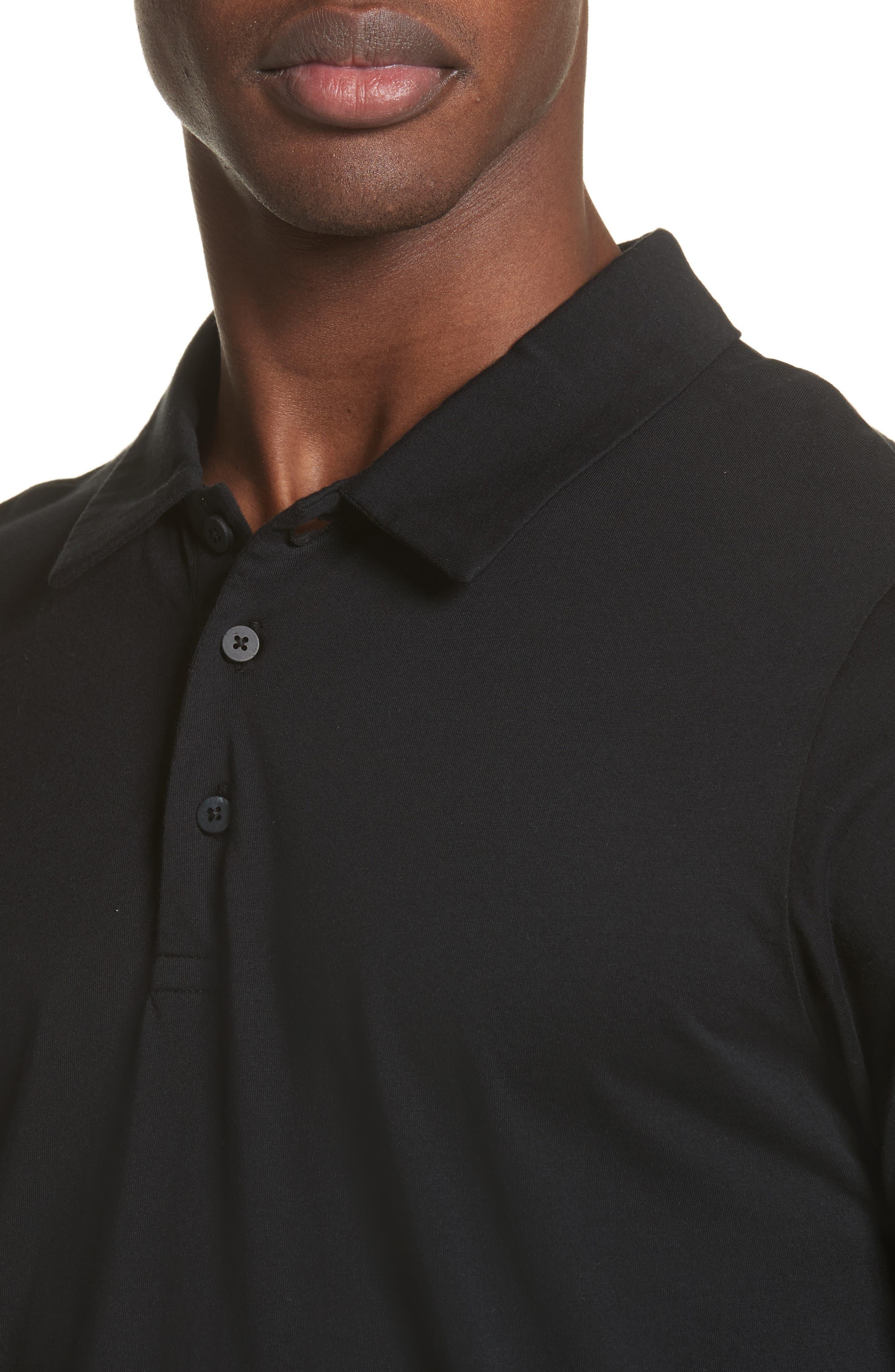 Short Sleeve Polo Shirt,                             Alternate thumbnail 4, color,                             001