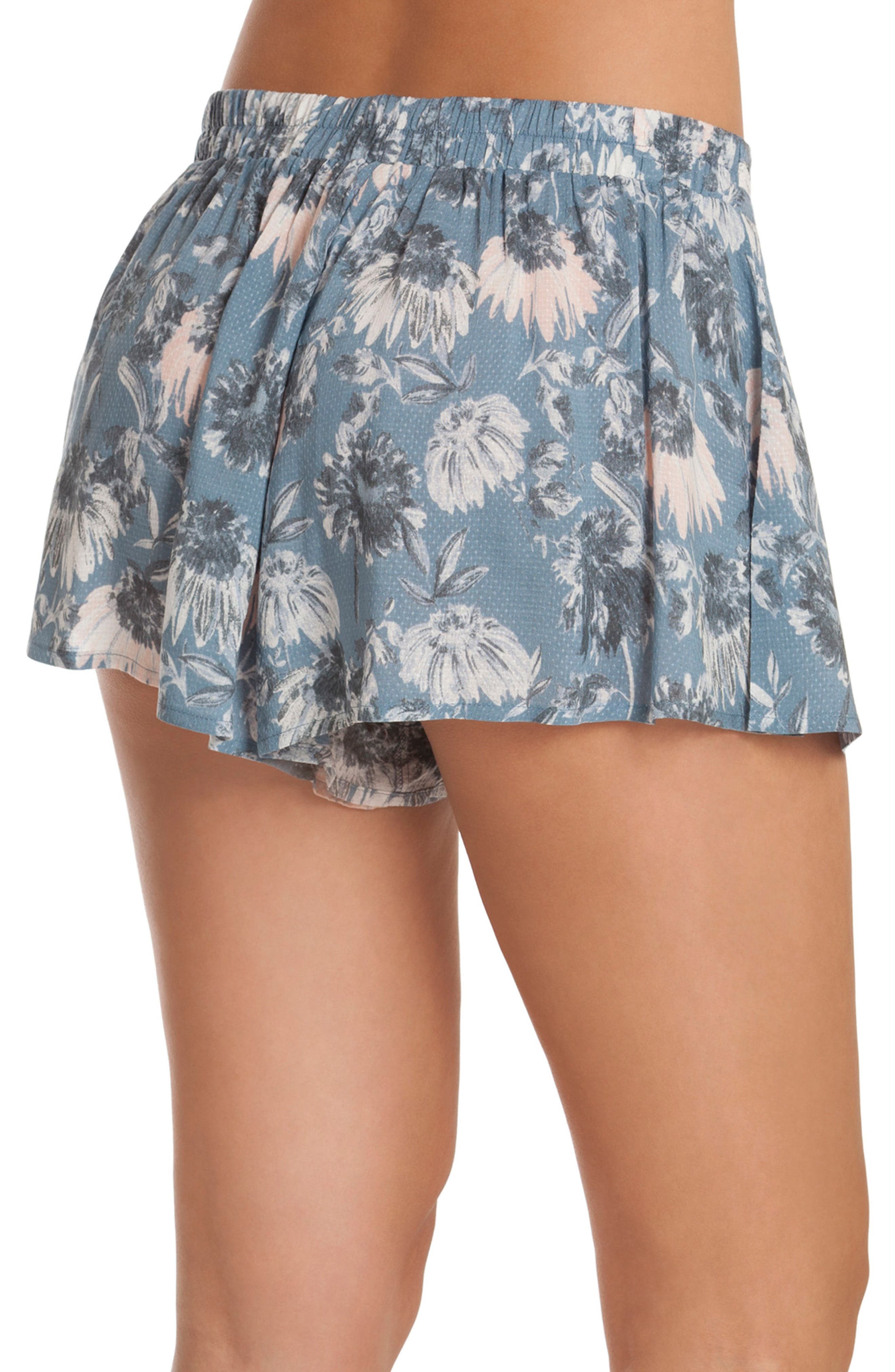 Floral Pajama Shorts,                             Alternate thumbnail 2, color,
