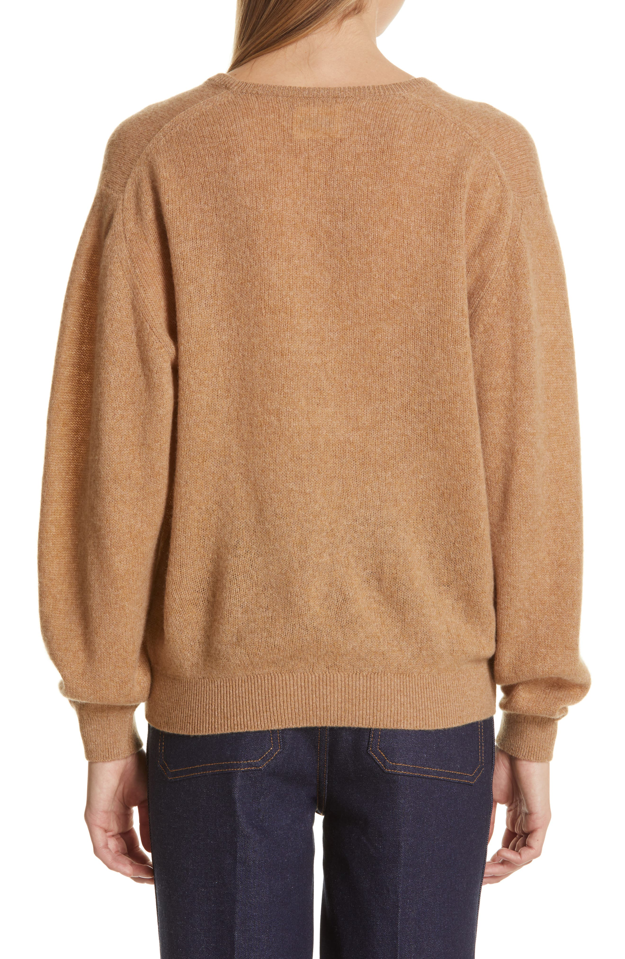 KHAITE,                             Sam Cashmere Sweater,                             Alternate thumbnail 2, color,                             CAMEL