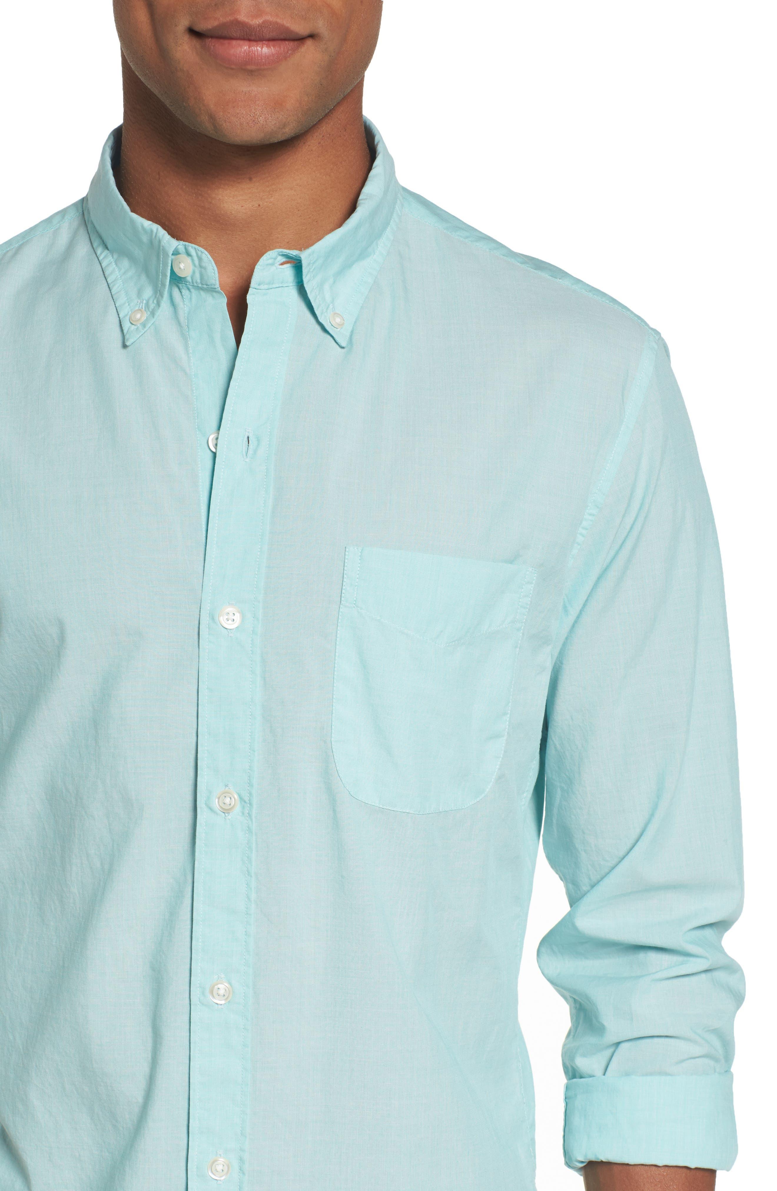 Slim Fit Summerweight Sport Shirt,                             Alternate thumbnail 4, color,                             400