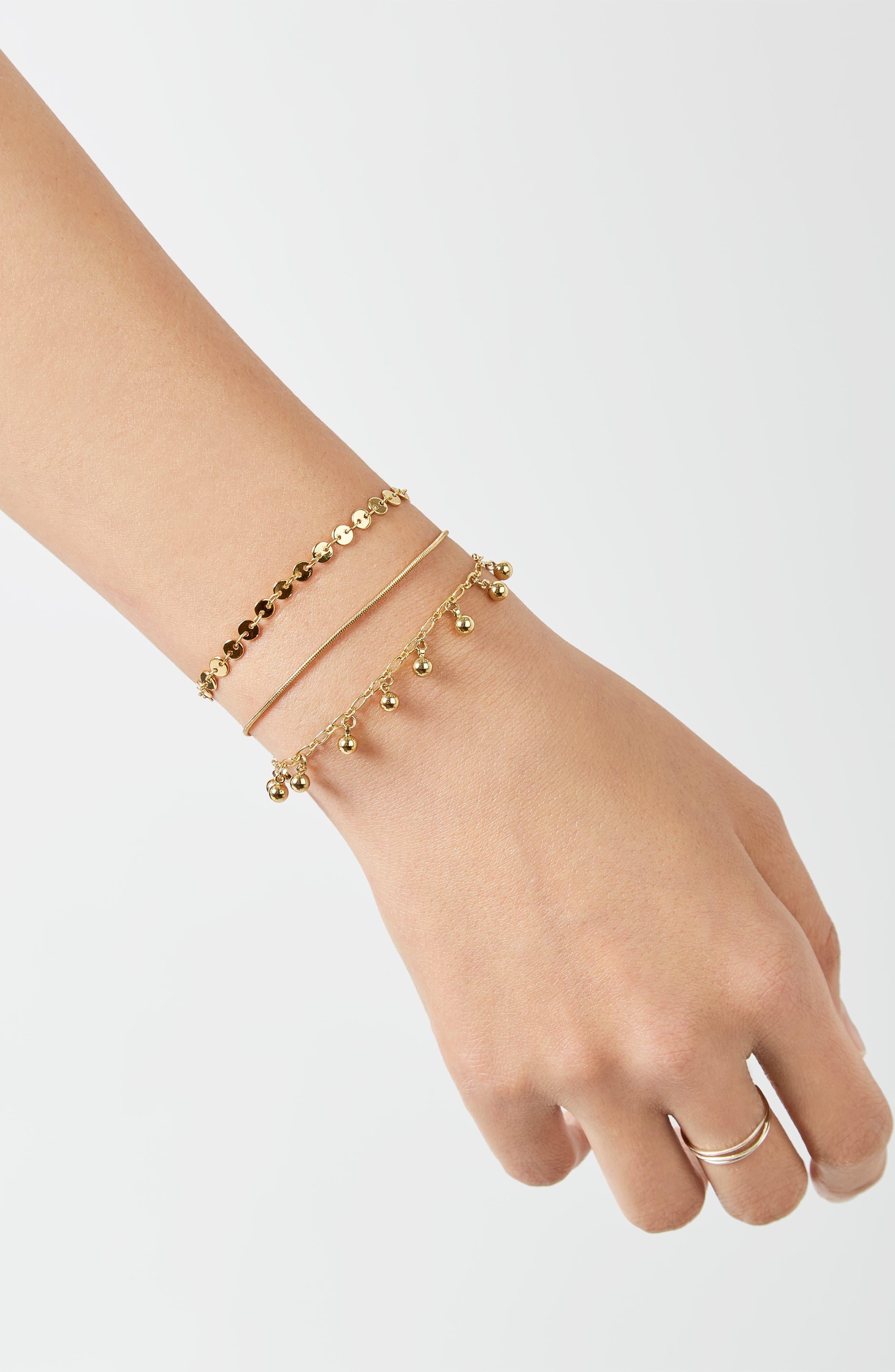Asteria Set of 3 Bracelets,                             Alternate thumbnail 2, color,                             GOLD