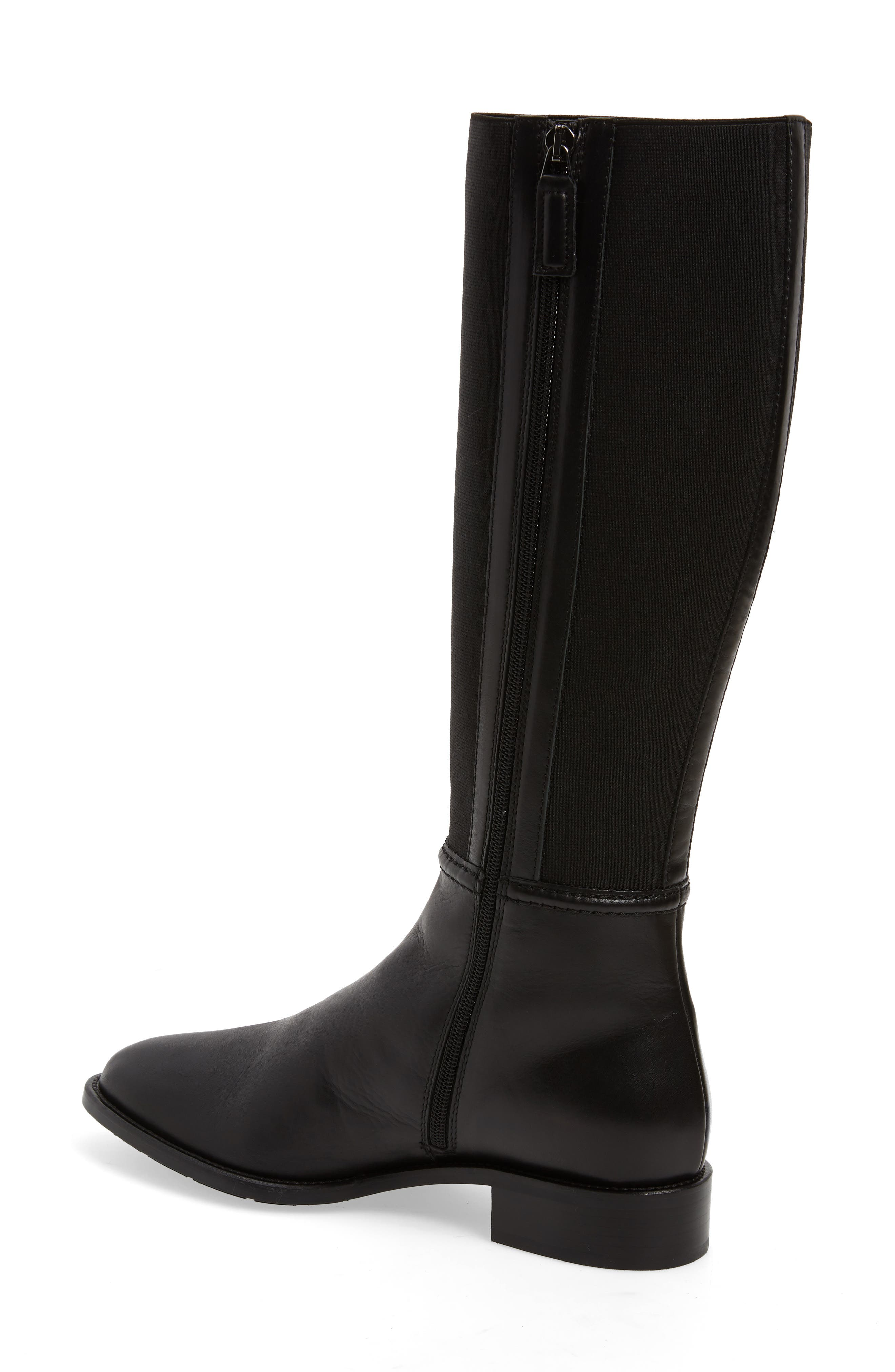 Nanina Water Resistant Riding Boot,                             Alternate thumbnail 2, color,                             BLACK