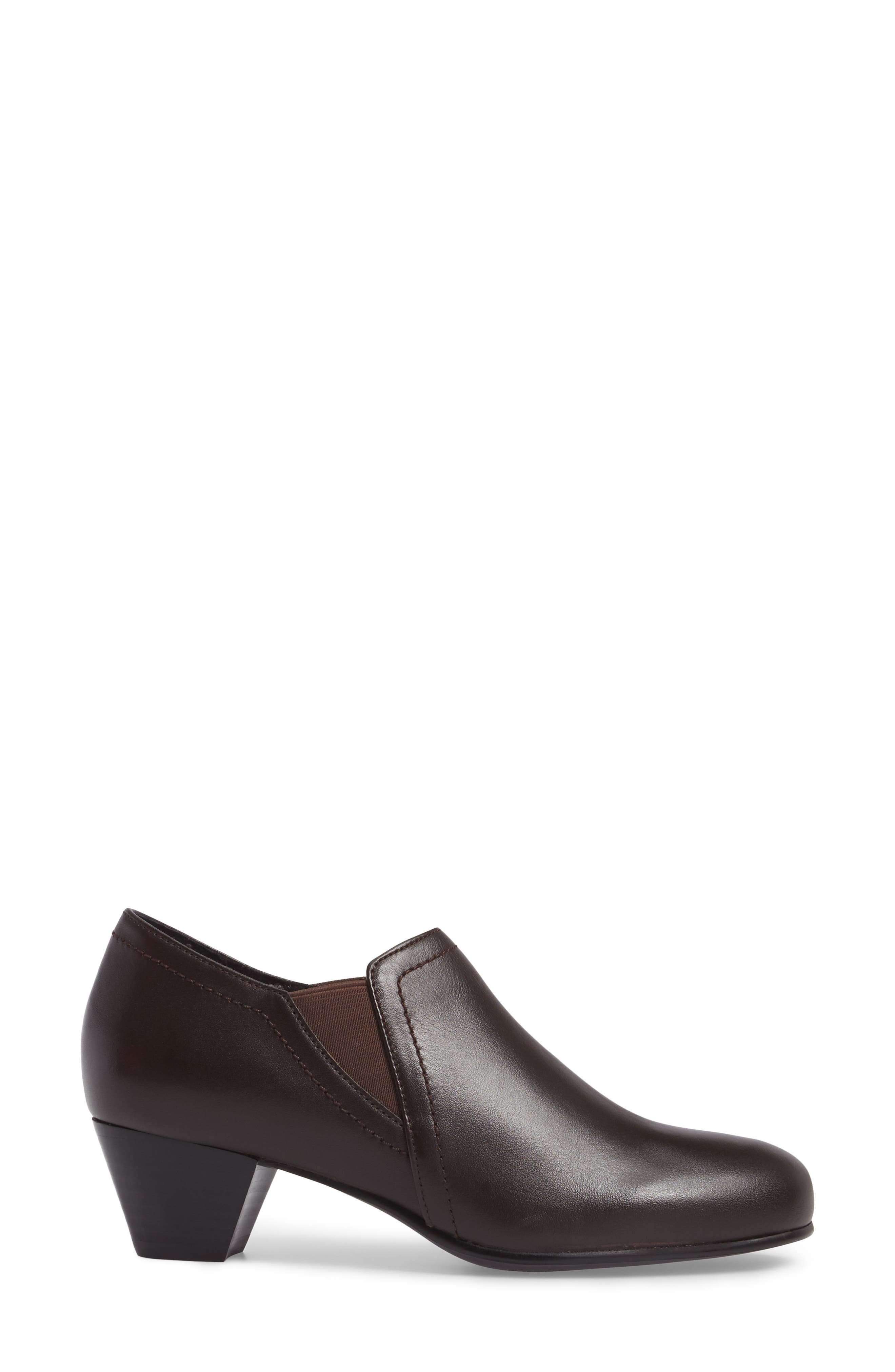 Maple Bootie,                             Alternate thumbnail 3, color,                             BROWN LEATHER