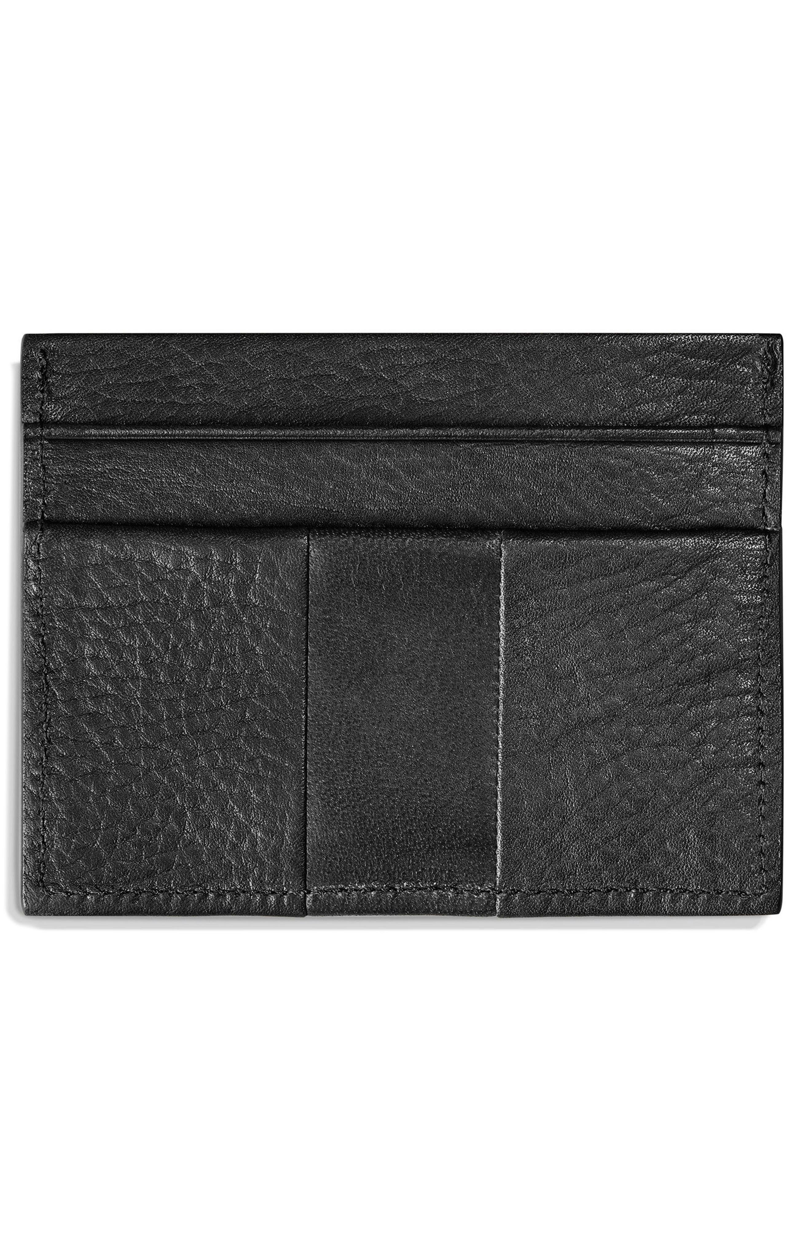 Bolt Leather Card Case,                             Alternate thumbnail 2, color,                             BLACK