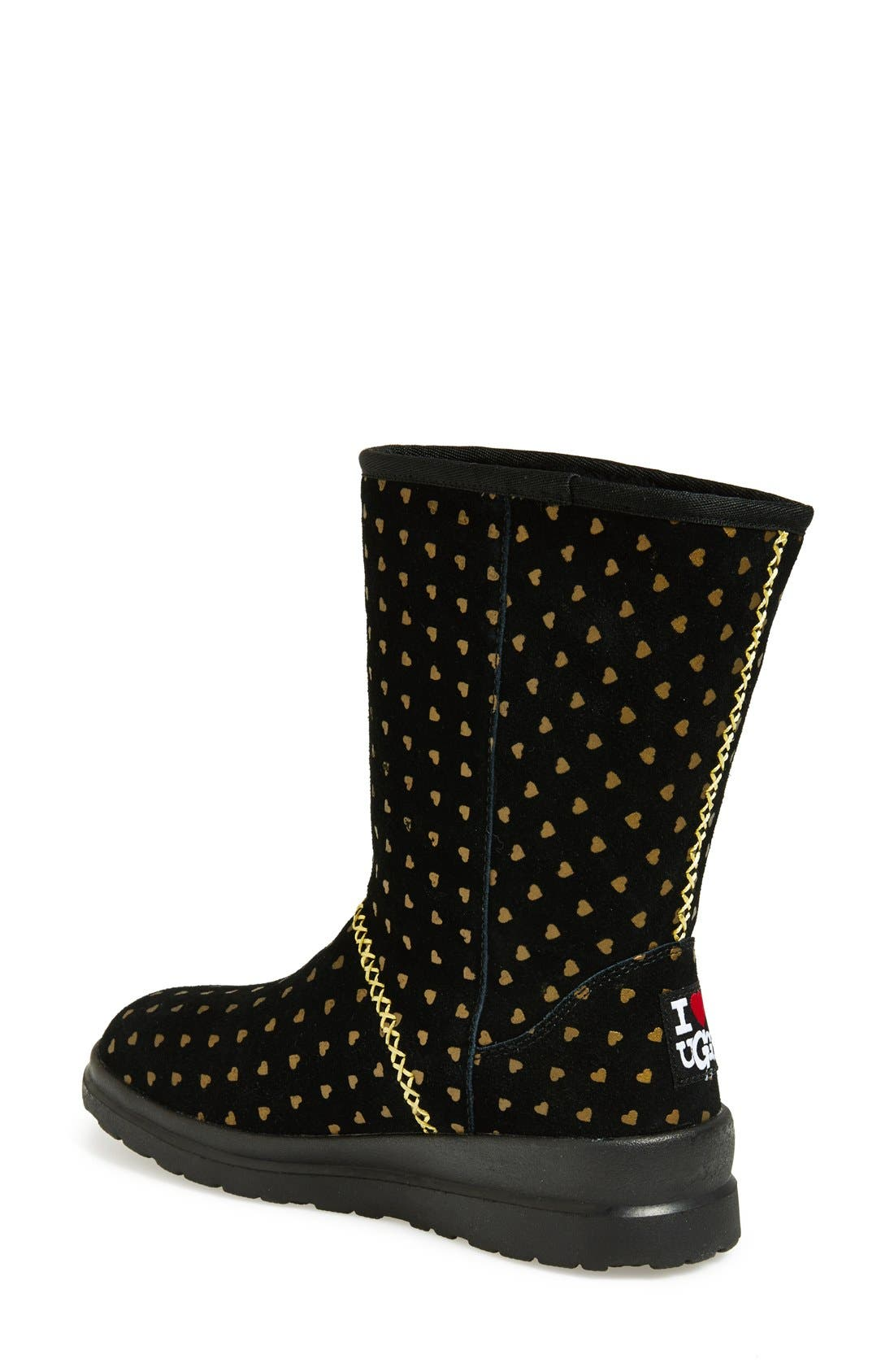 I Heart UGG<sup>™</sup> by UGG<sup>®</sup> Australia 'I Heart Kisses' Short Boot,                             Alternate thumbnail 3, color,                             005