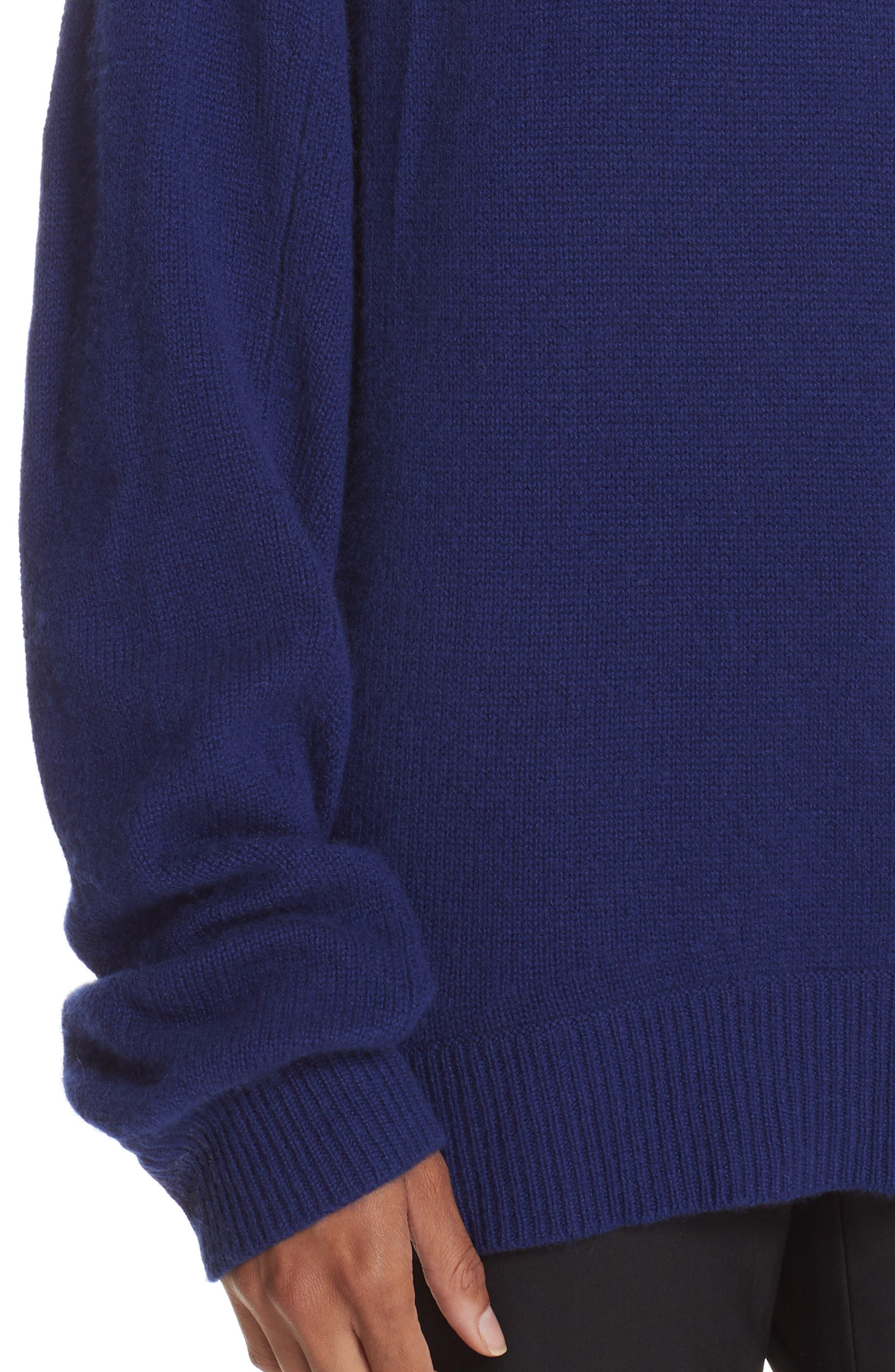 Cashmere Sweater,                             Alternate thumbnail 4, color,                             PERSIAN BLUE