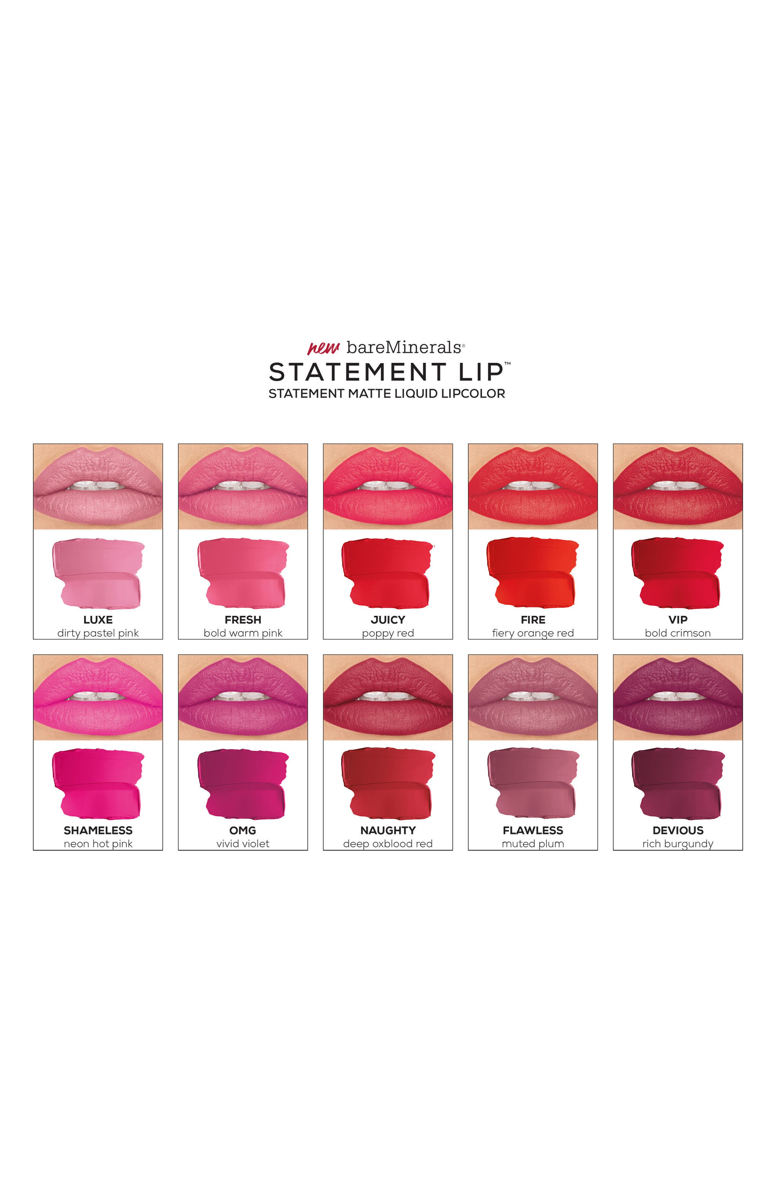 Statement<sup>™</sup> Matte Liquid Lipstick,                             Alternate thumbnail 3, color,                             OMG