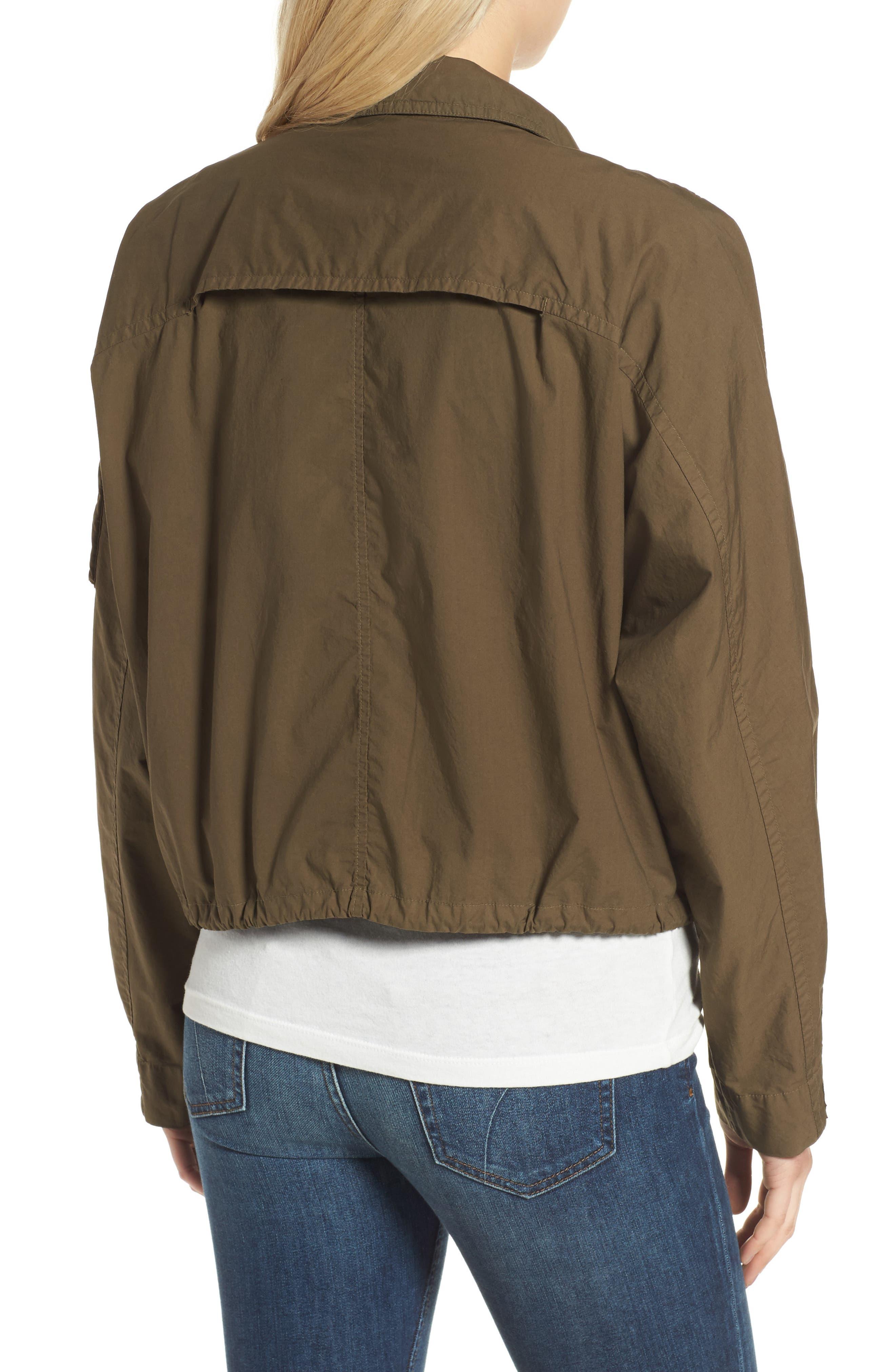 Dolman Sleeve Bomber Jacket,                             Alternate thumbnail 4, color,