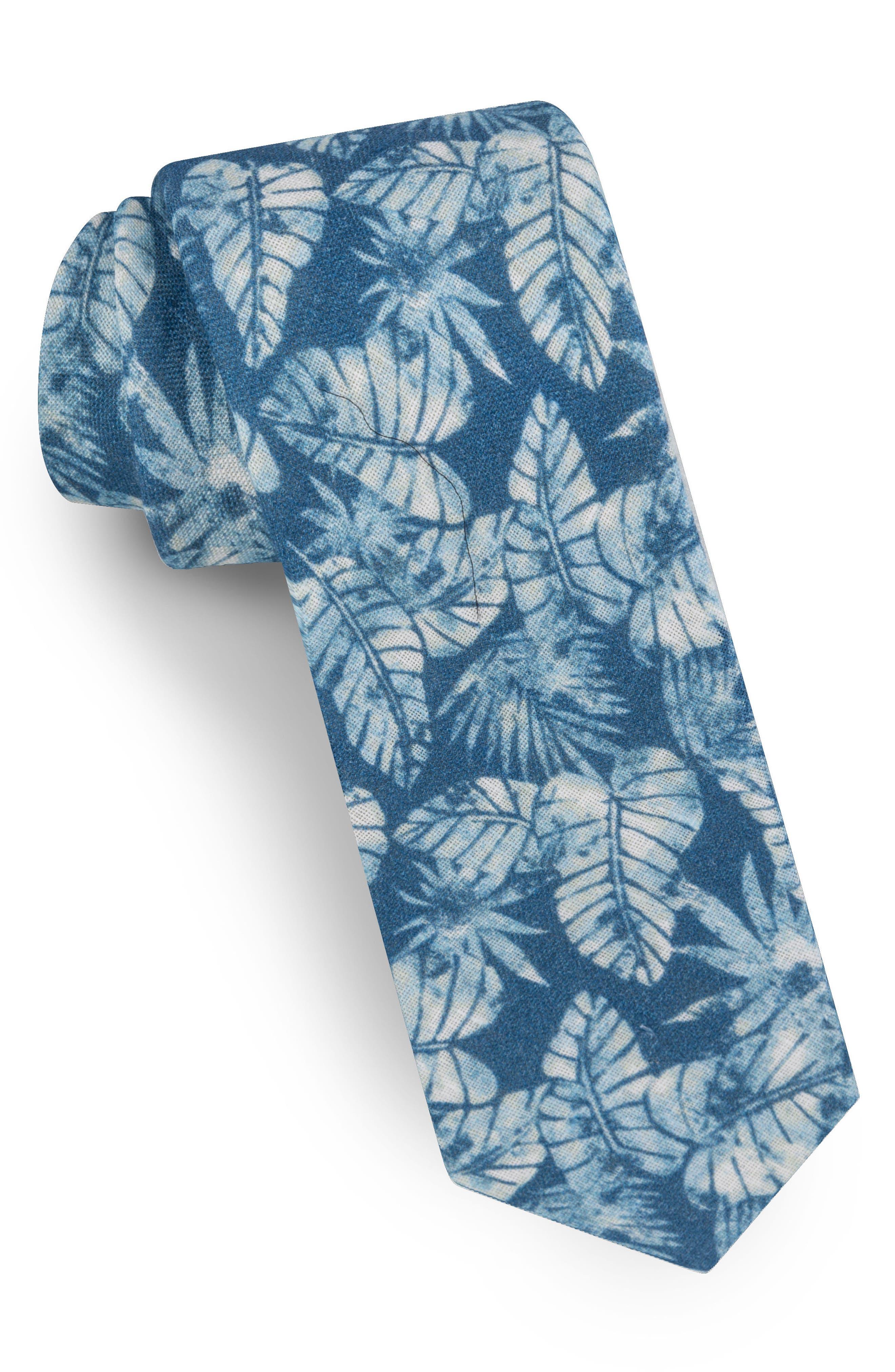 Palm Leaf Silk Tie,                         Main,                         color,