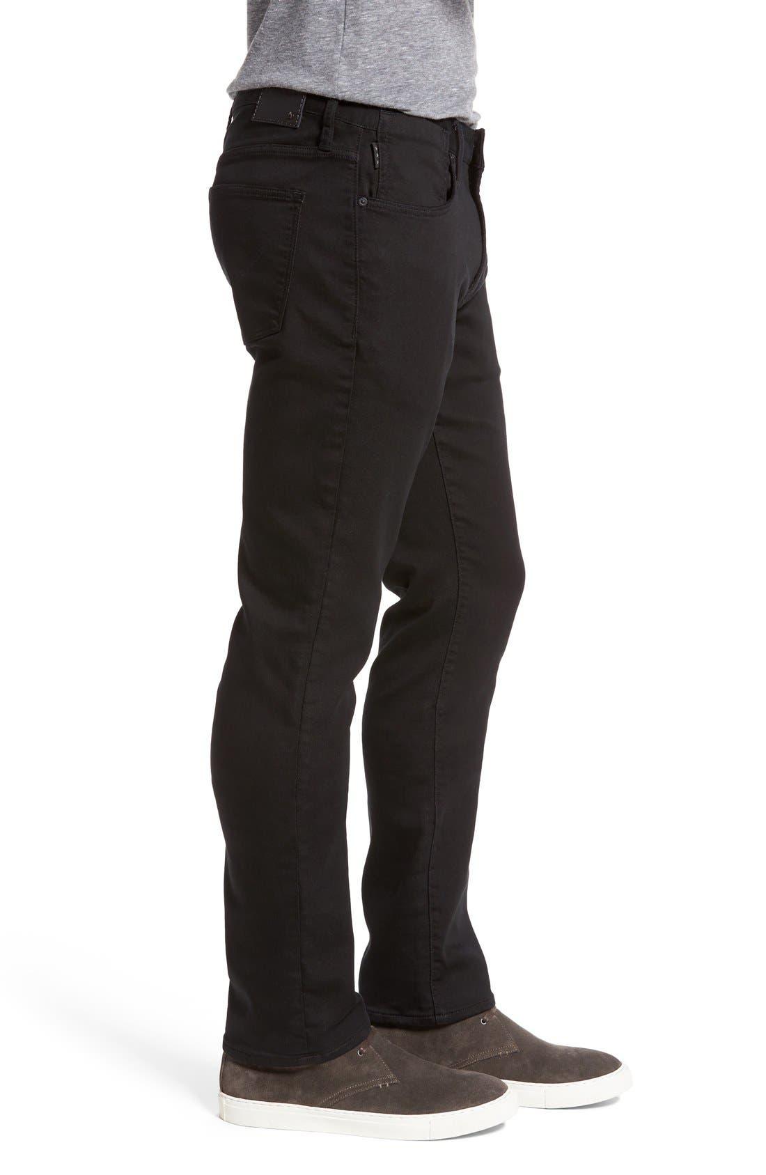 'Bowery' Slim Straight Leg Jeans,                             Alternate thumbnail 4, color,
