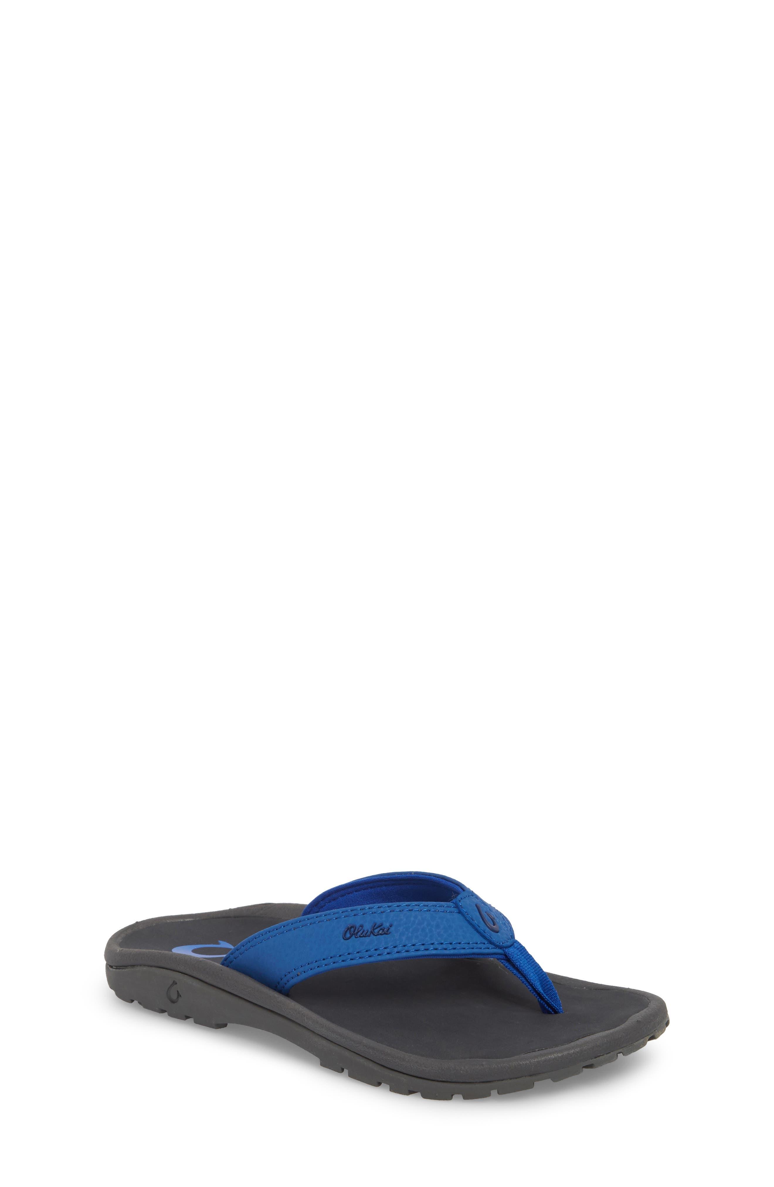 'Ohana' Sandal,                         Main,                         color, AQUA BLUE/ DARK SHADOW