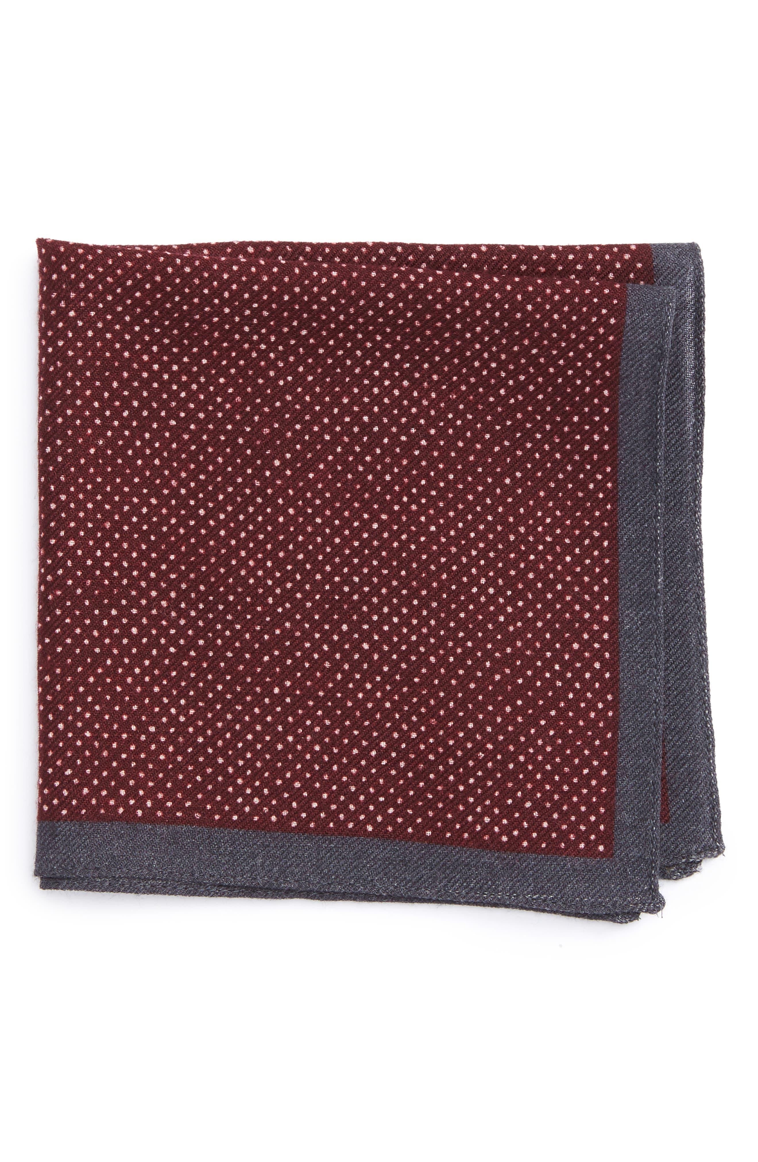 Dot Wool Pocket Square,                             Main thumbnail 2, color,