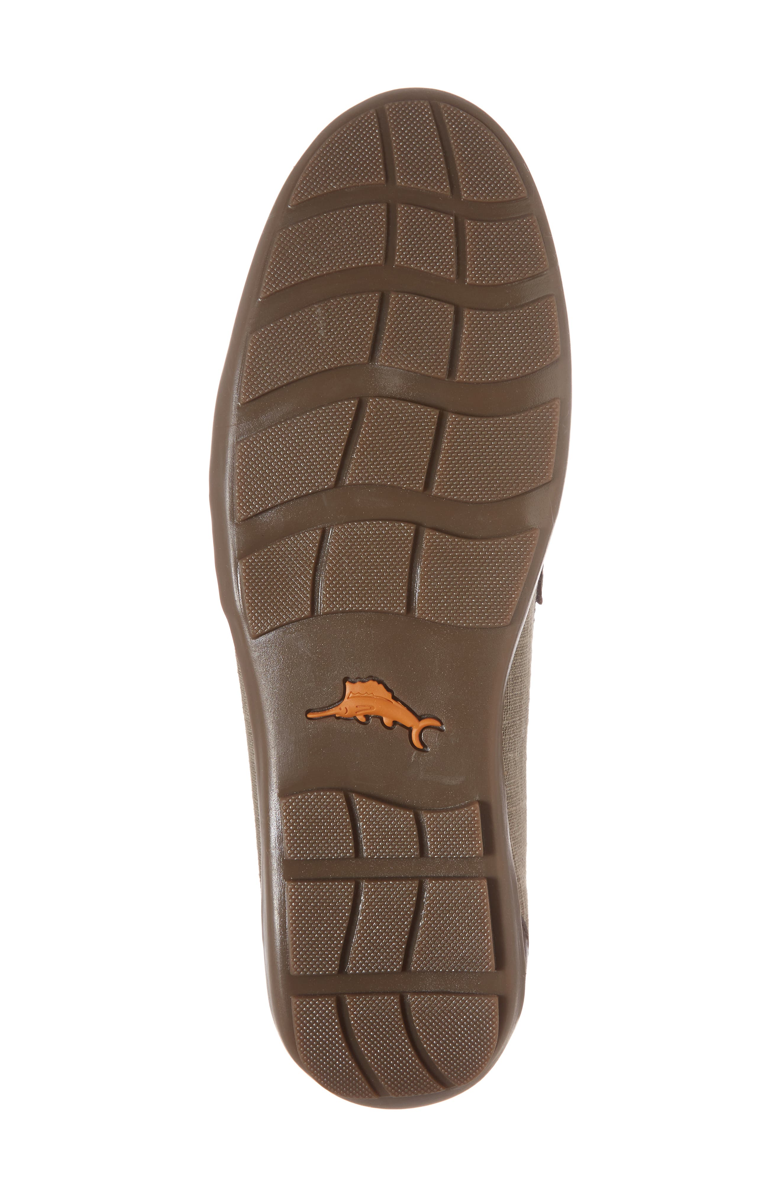 Taza Fronds Driving Shoe,                             Alternate thumbnail 6, color,                             BROWN/ OLIVE LEATHER/ LINEN