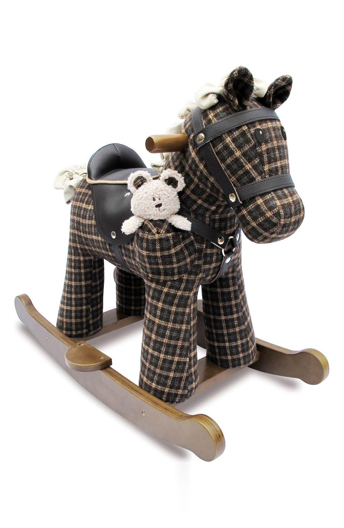 Rufus & Ted Rocking Horse & Stuffed Animal,                             Main thumbnail 1, color,                             200