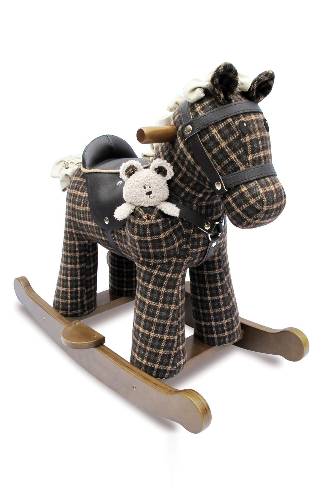 Rufus & Ted Rocking Horse & Stuffed Animal,                         Main,                         color, 200