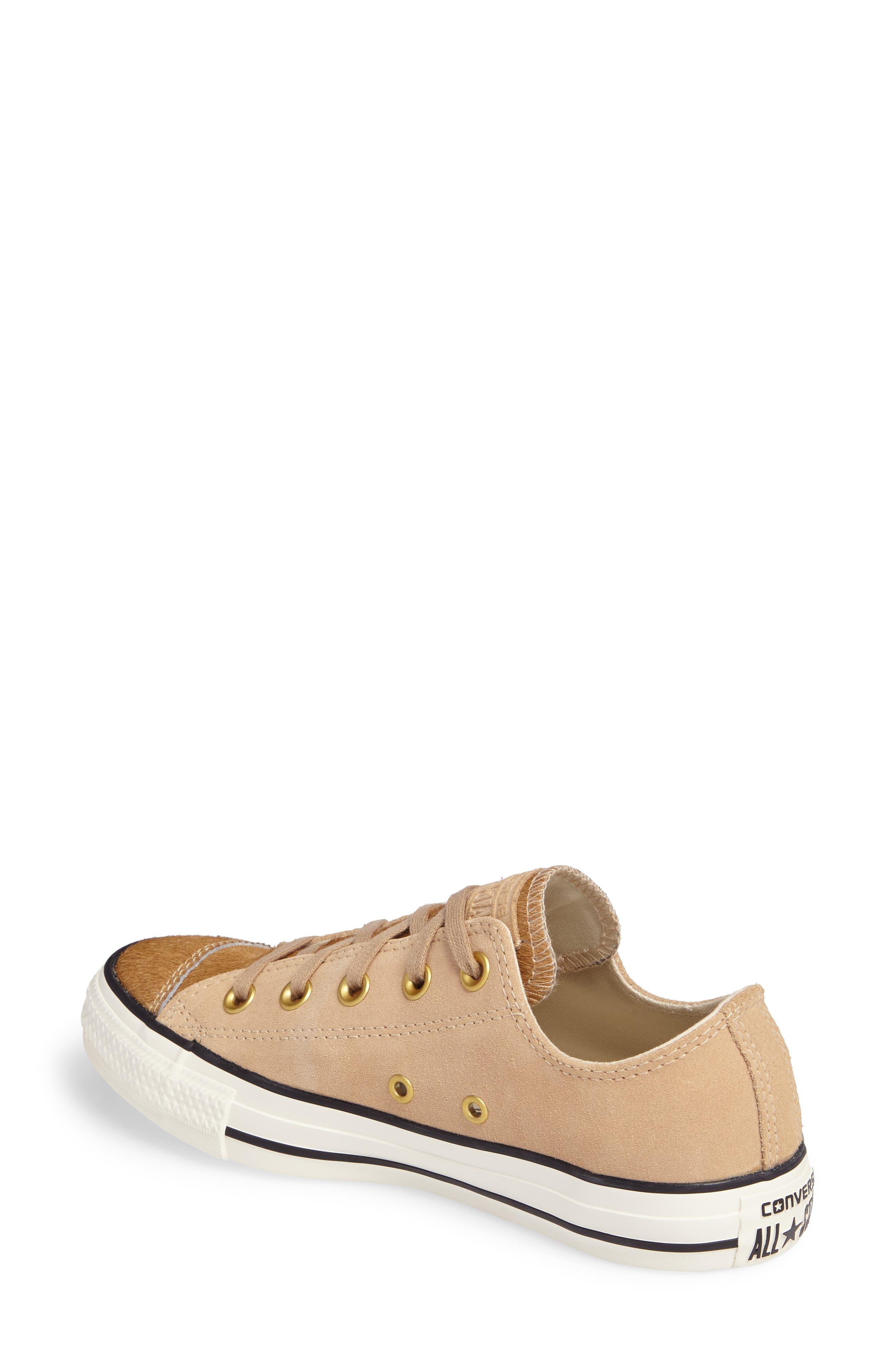 Chuck Taylor<sup>®</sup> All Star<sup>®</sup> Ox Genuine Calf Hair Sneaker,                             Alternate thumbnail 4, color,