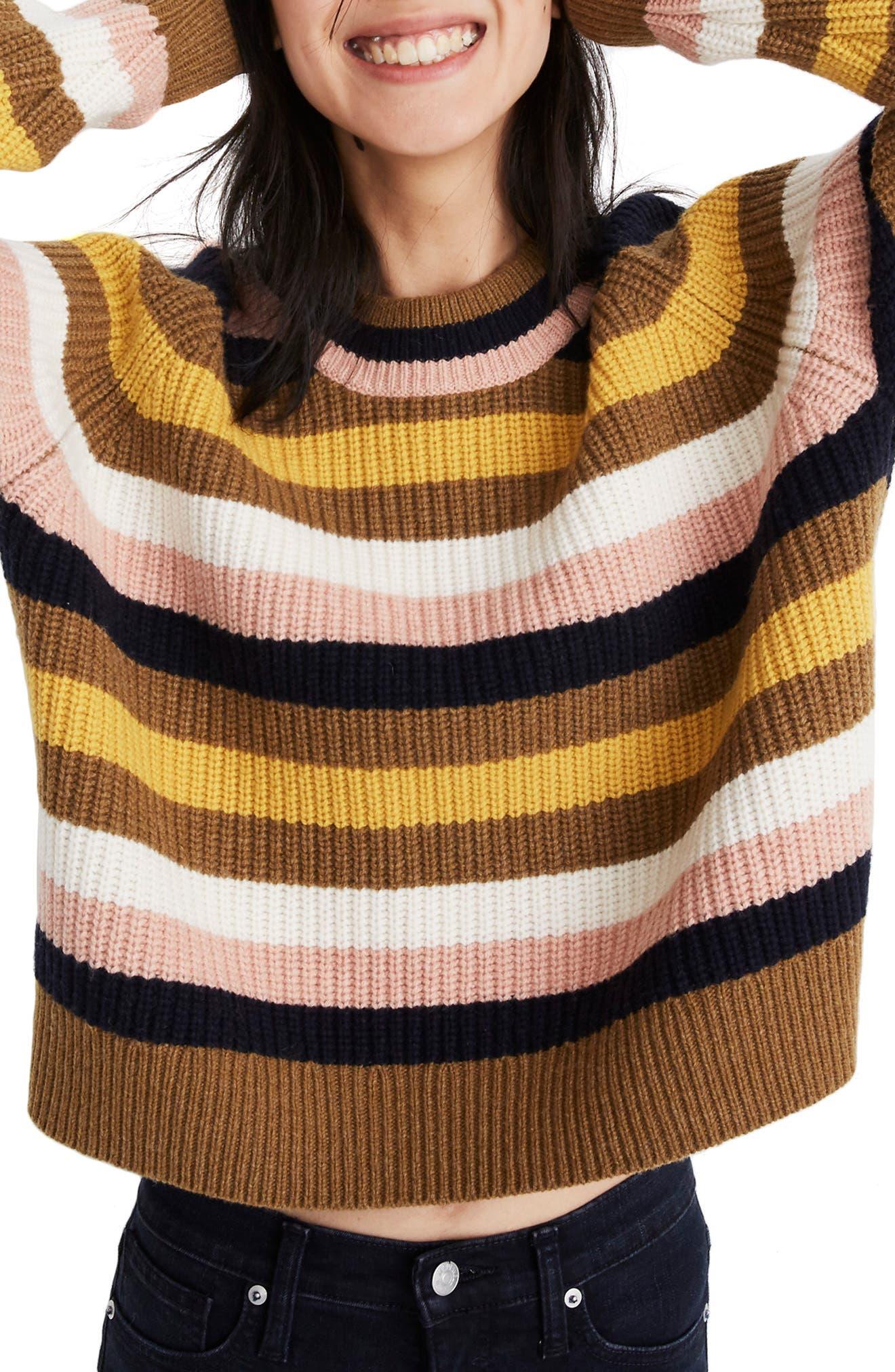 Madewell Tilden Stripe Sweater, Beige