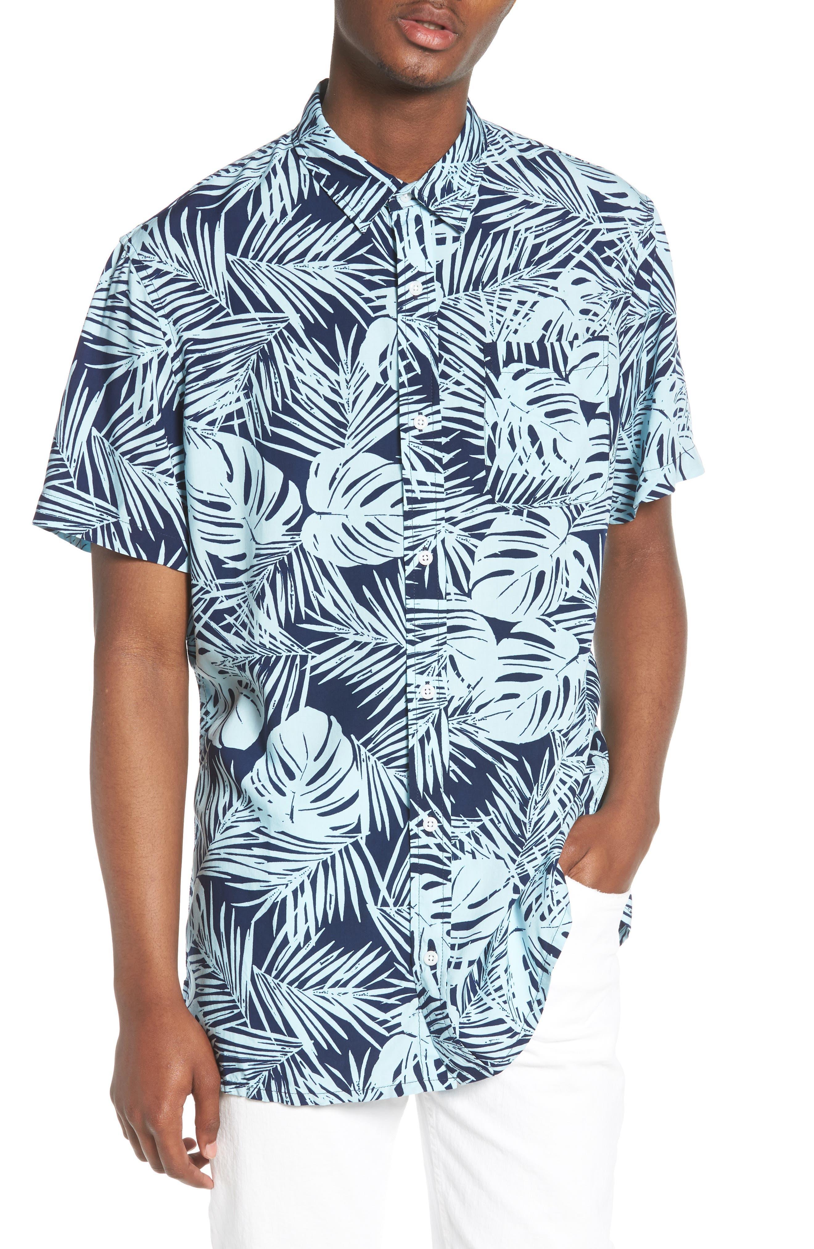 Print Woven Shirt,                             Main thumbnail 3, color,