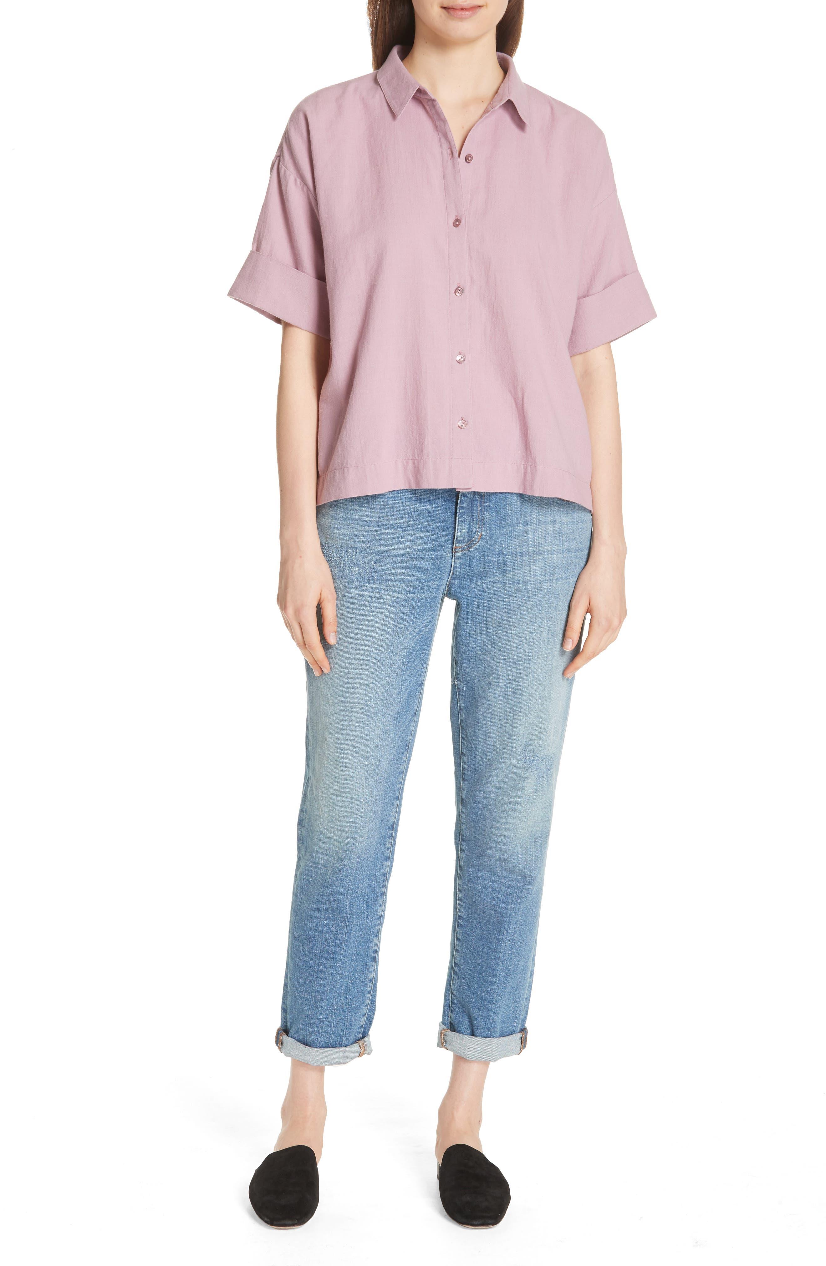 Classic Boxy Shirt,                             Alternate thumbnail 13, color,