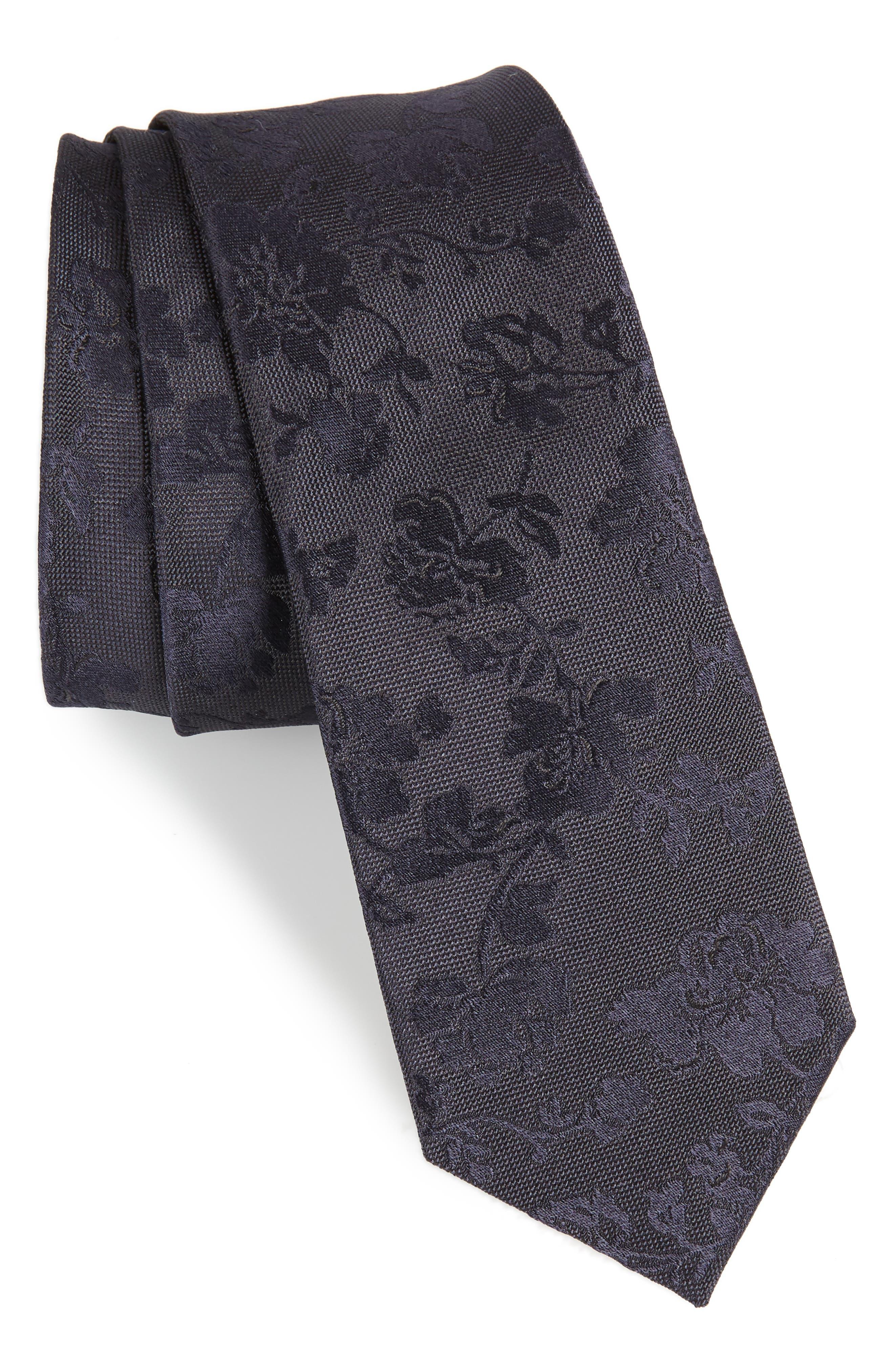 Tonal Floral Silk Tie, Main, color, 415