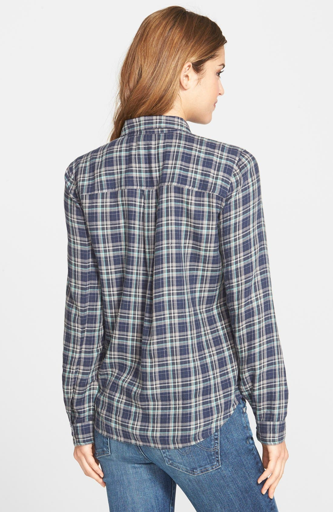 Embellished Plaid Shirt,                             Alternate thumbnail 2, color,                             410