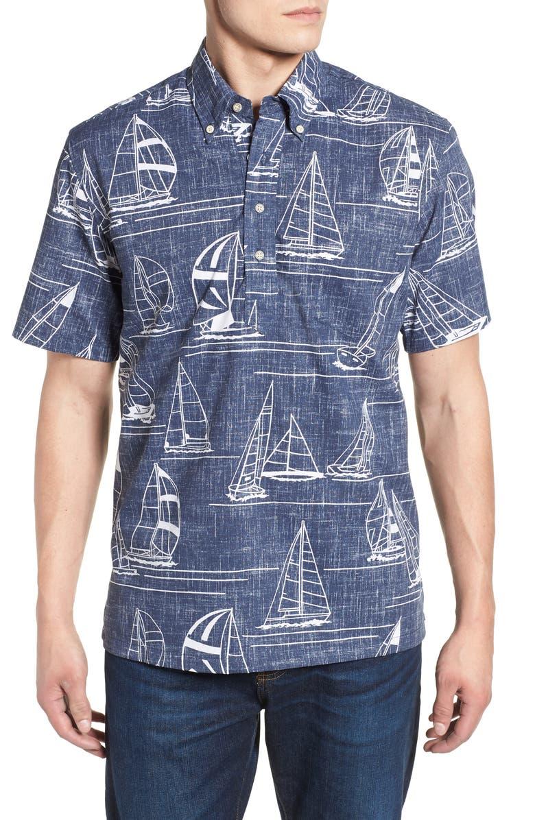 977dbeac1455 Reyn Spooner Newport 2 Honolulu Classic Fit Print Sport Shirt ...