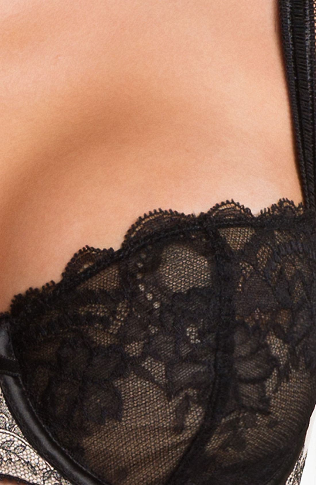 'Paris Paris' Underwire Demi Bra,                             Alternate thumbnail 2, color,                             010