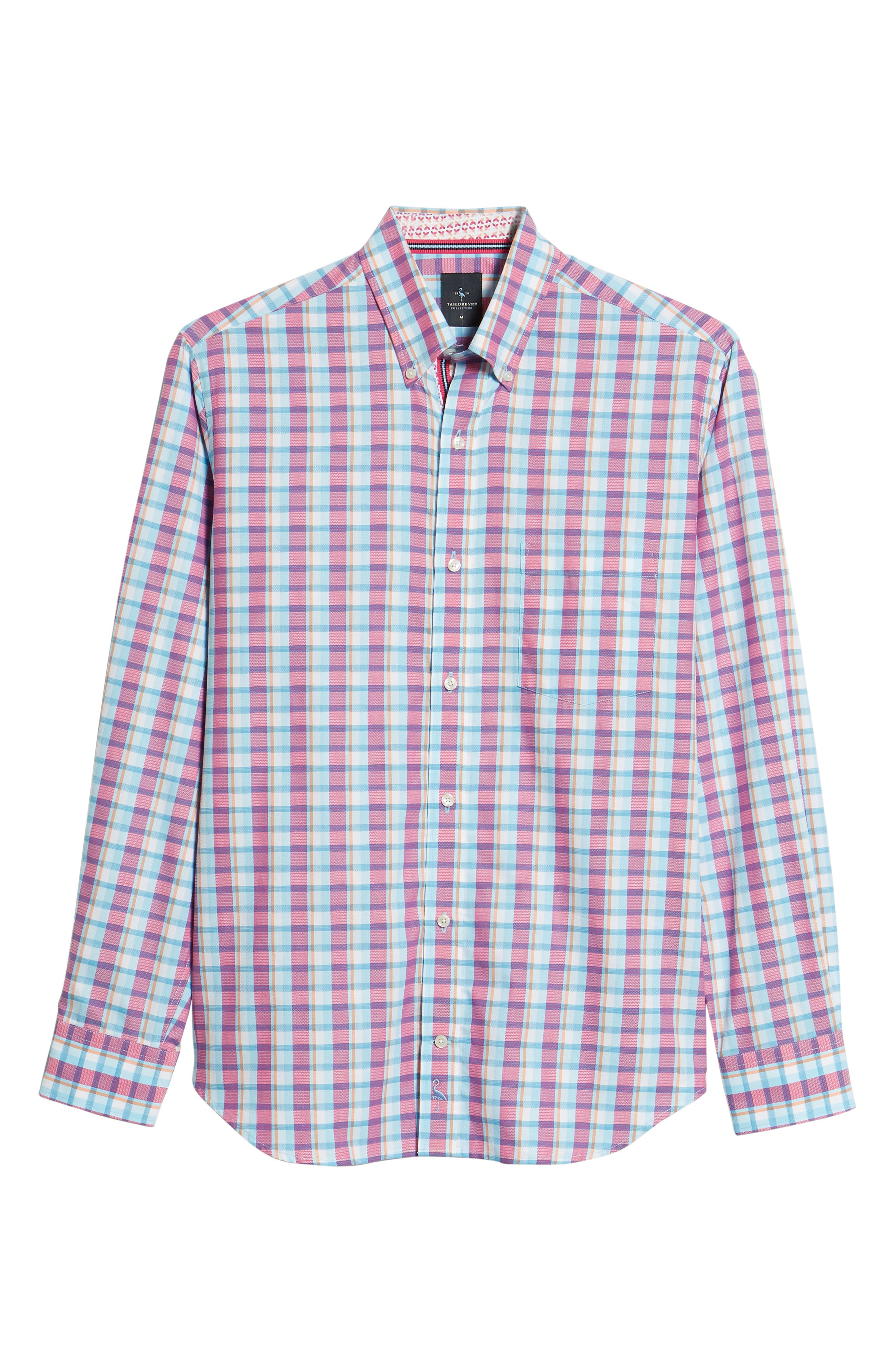Leith Regular Fit Check Sport Shirt,                             Alternate thumbnail 6, color,                             439