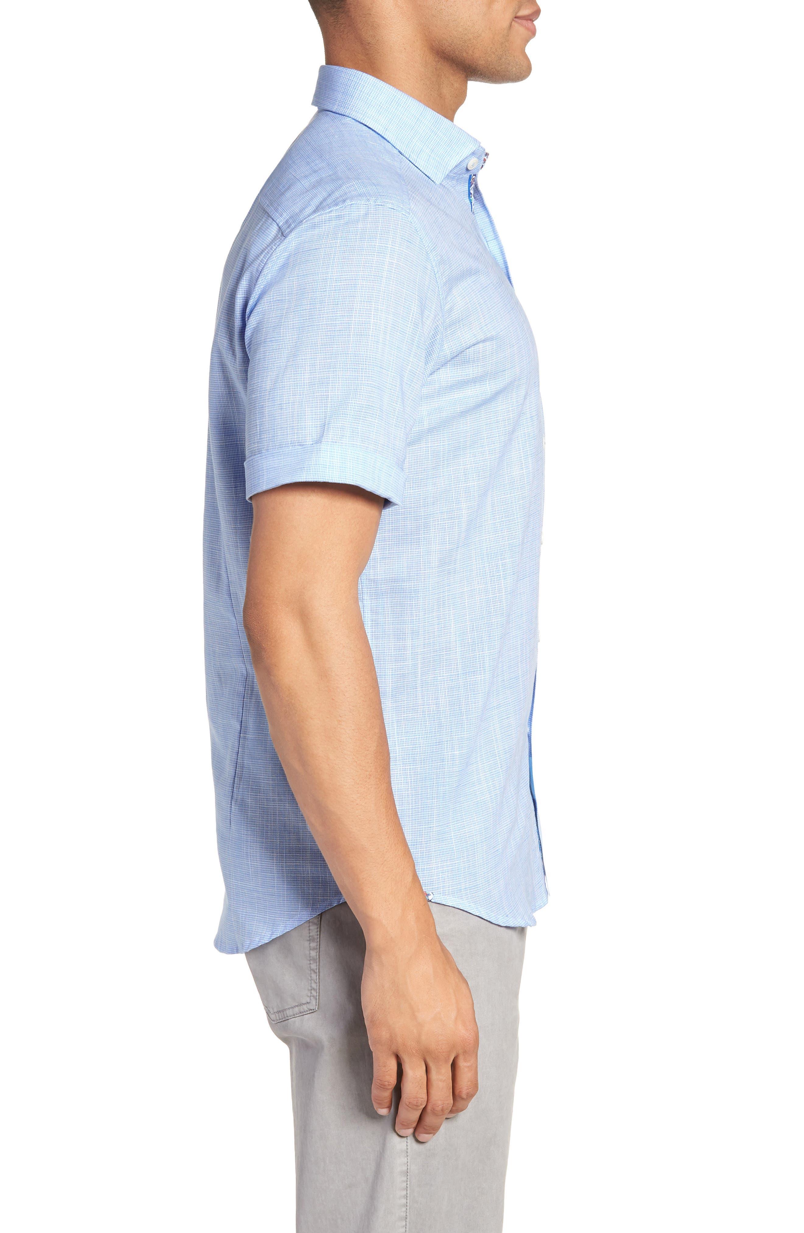 ROBERT GRAHAM,                             Isia Tailored Fit Sport Shirt,                             Alternate thumbnail 3, color,                             400