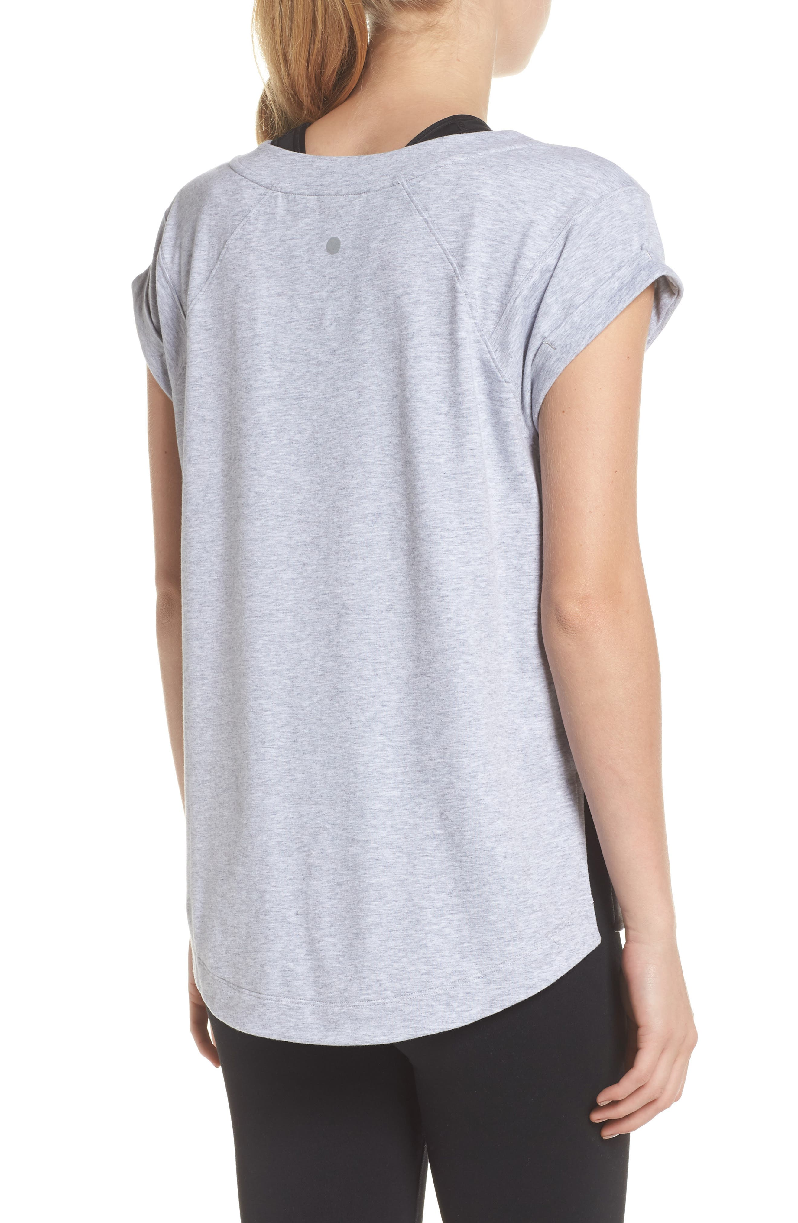 Karly Tee,                             Alternate thumbnail 2, color,                             GREY QUIET HEATHER