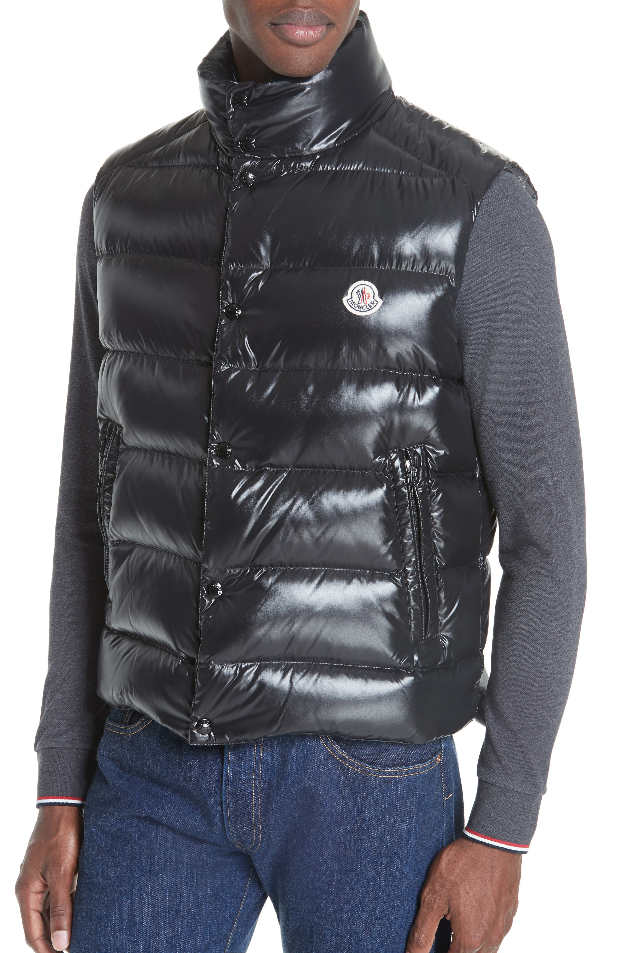 Tib Down Vest,                             Alternate thumbnail 4, color,                             BLACK