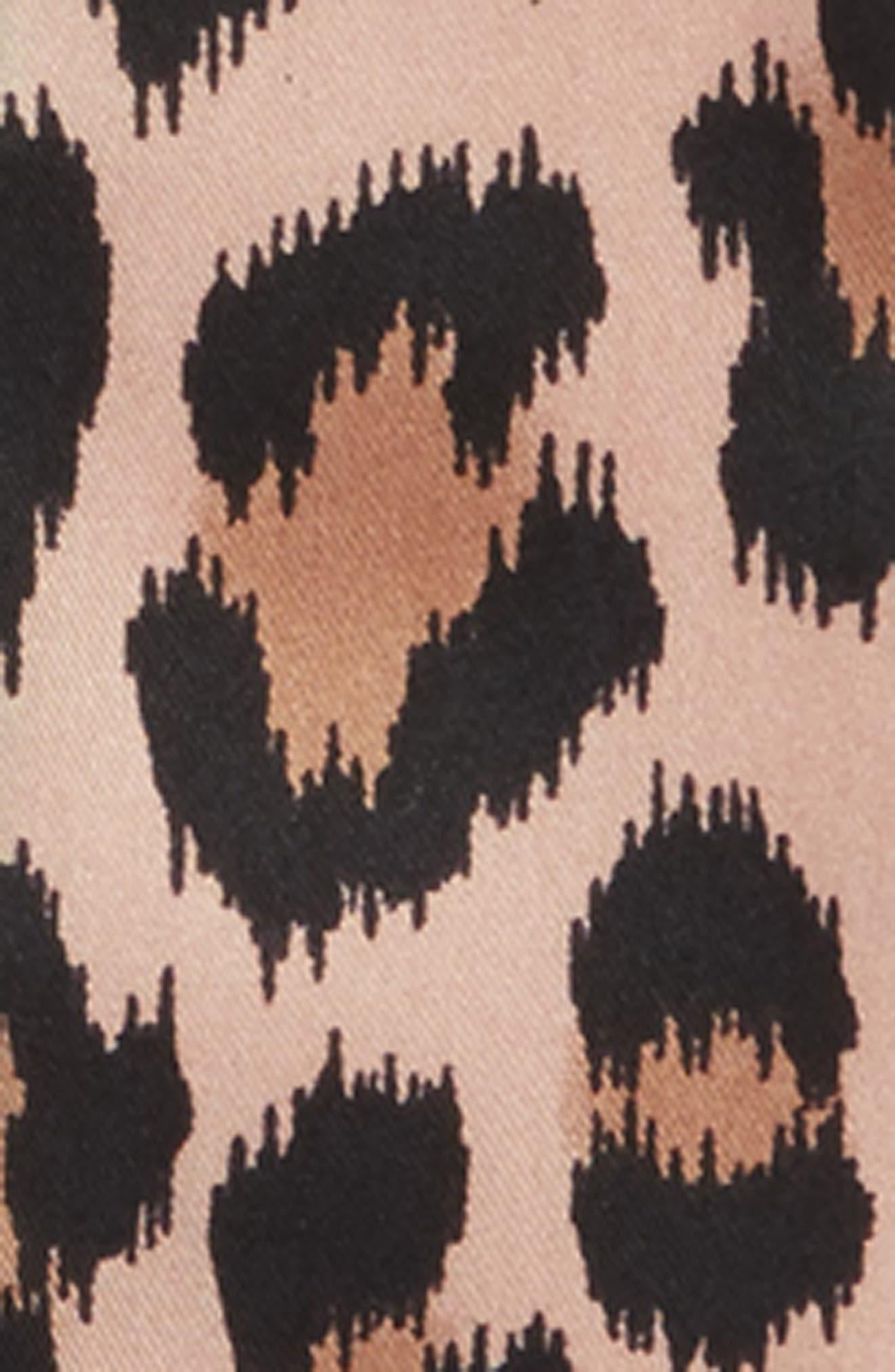 classic leopard skinny silk scarf,                             Alternate thumbnail 4, color,                             200