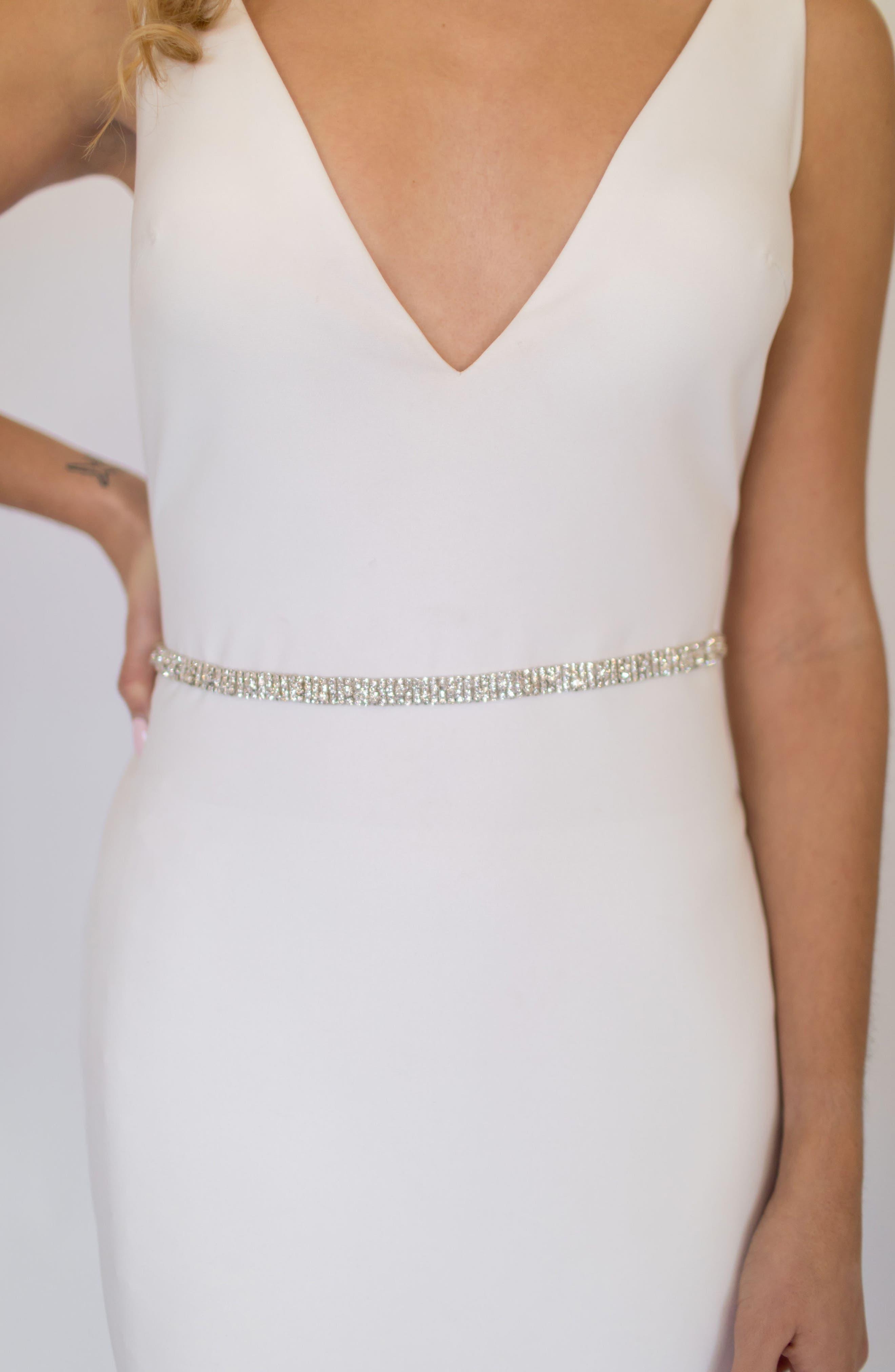 Untamed Petals By Amanda Judge June Crystal Belt, Size One Size - Silver