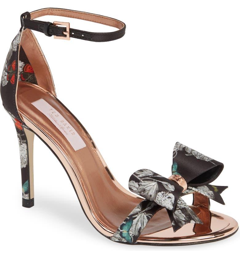 bfaef98bbfd Ted Baker Women S Bowdalp Black Narnia High-Heel Sandals In Black Narnia  Satin