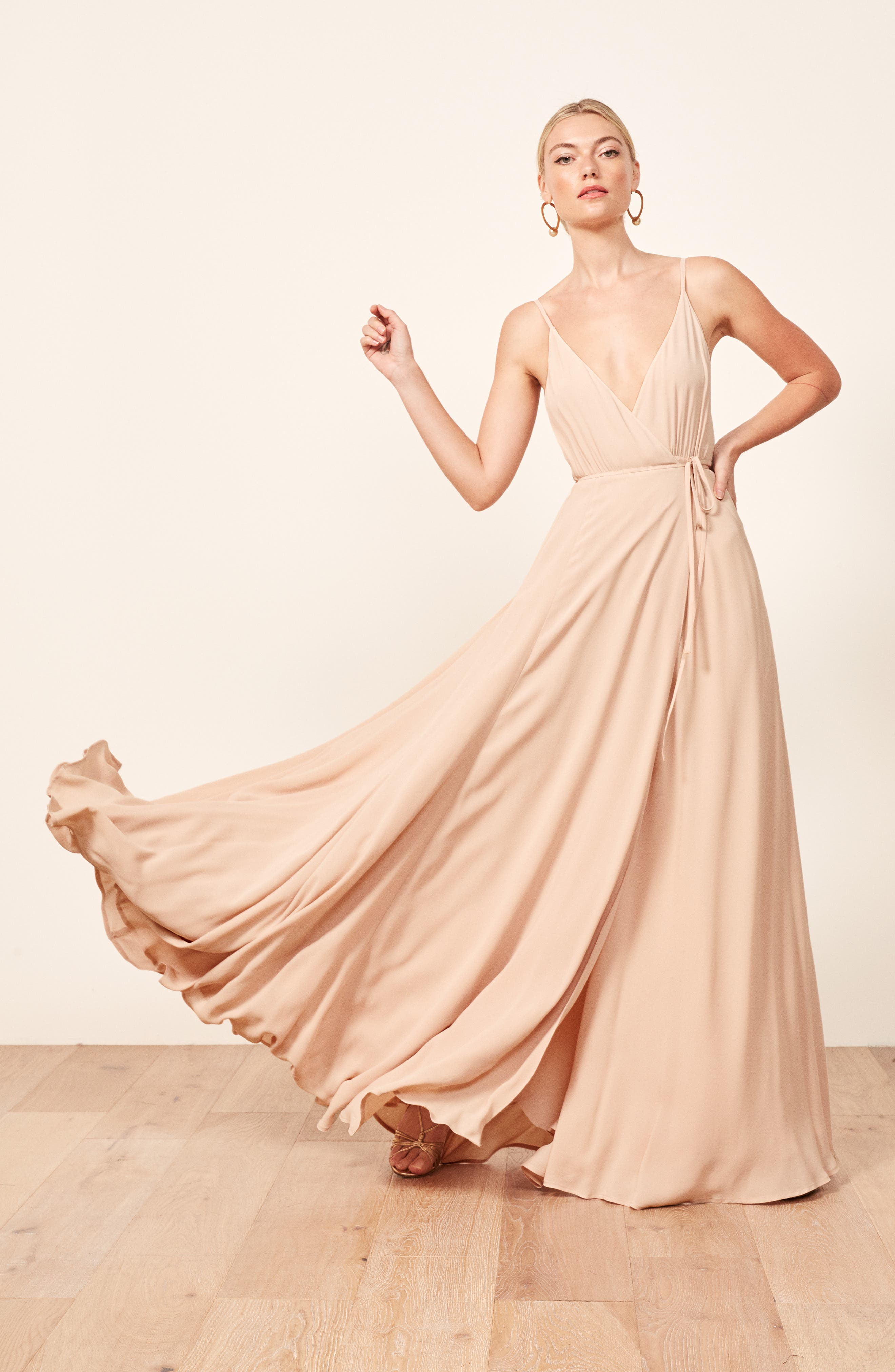 Calalilly Maxi Dress,                             Alternate thumbnail 7, color,                             CHAMPAGNE